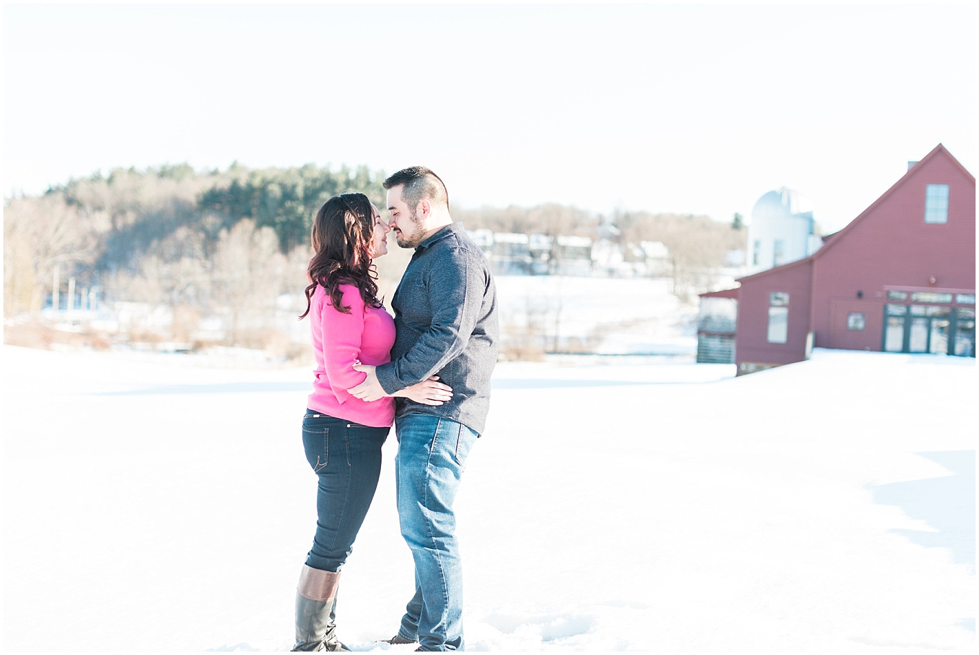snowy engagement session photos by Alyssa Parker Photography