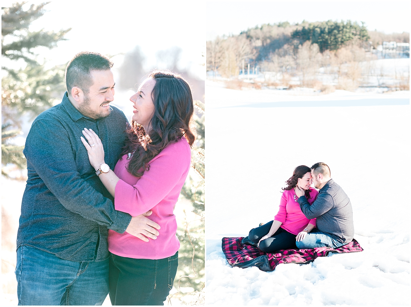 Winter Engagement Photos by Alyssa Parker Photography