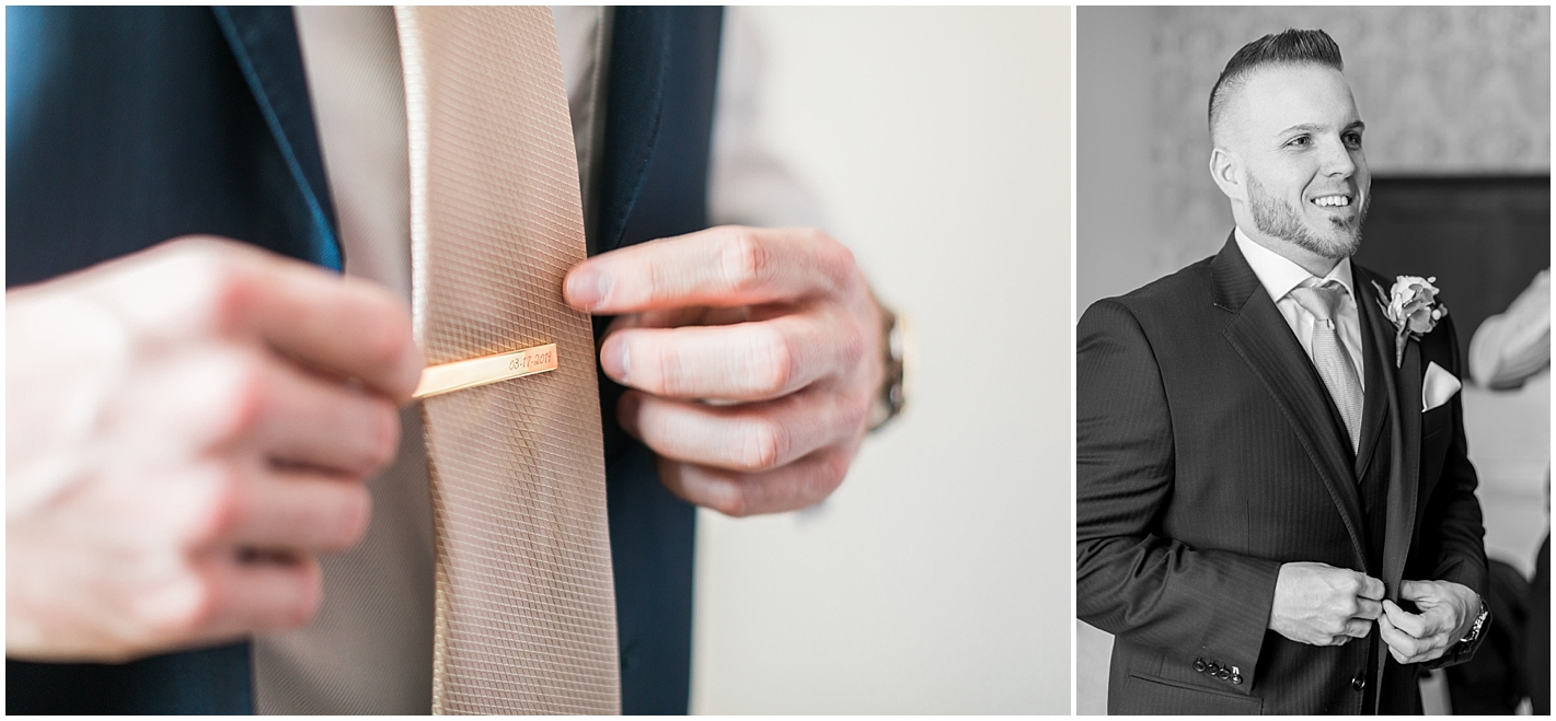 Tie Clip with Wedding Date Photos by Alyssa Parker Photography