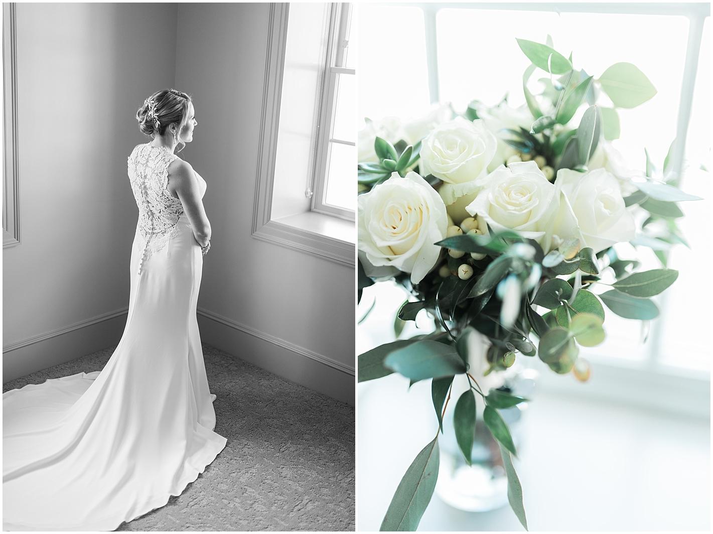 Window Lit Bridal Portrait by Alyssa Parker Photography