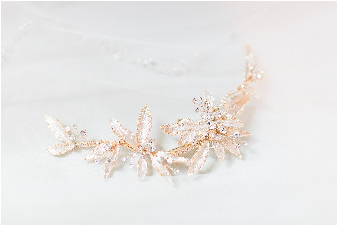 Rose gold hair piece Photos by Alyssa Parker Photography