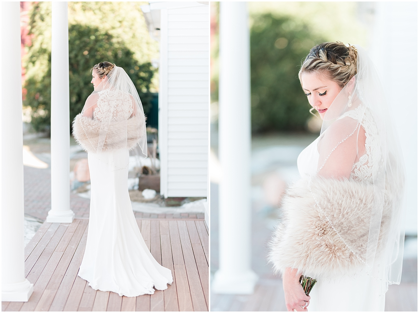 Winter Wedding Bride Portraits by Alyssa Parker Photography