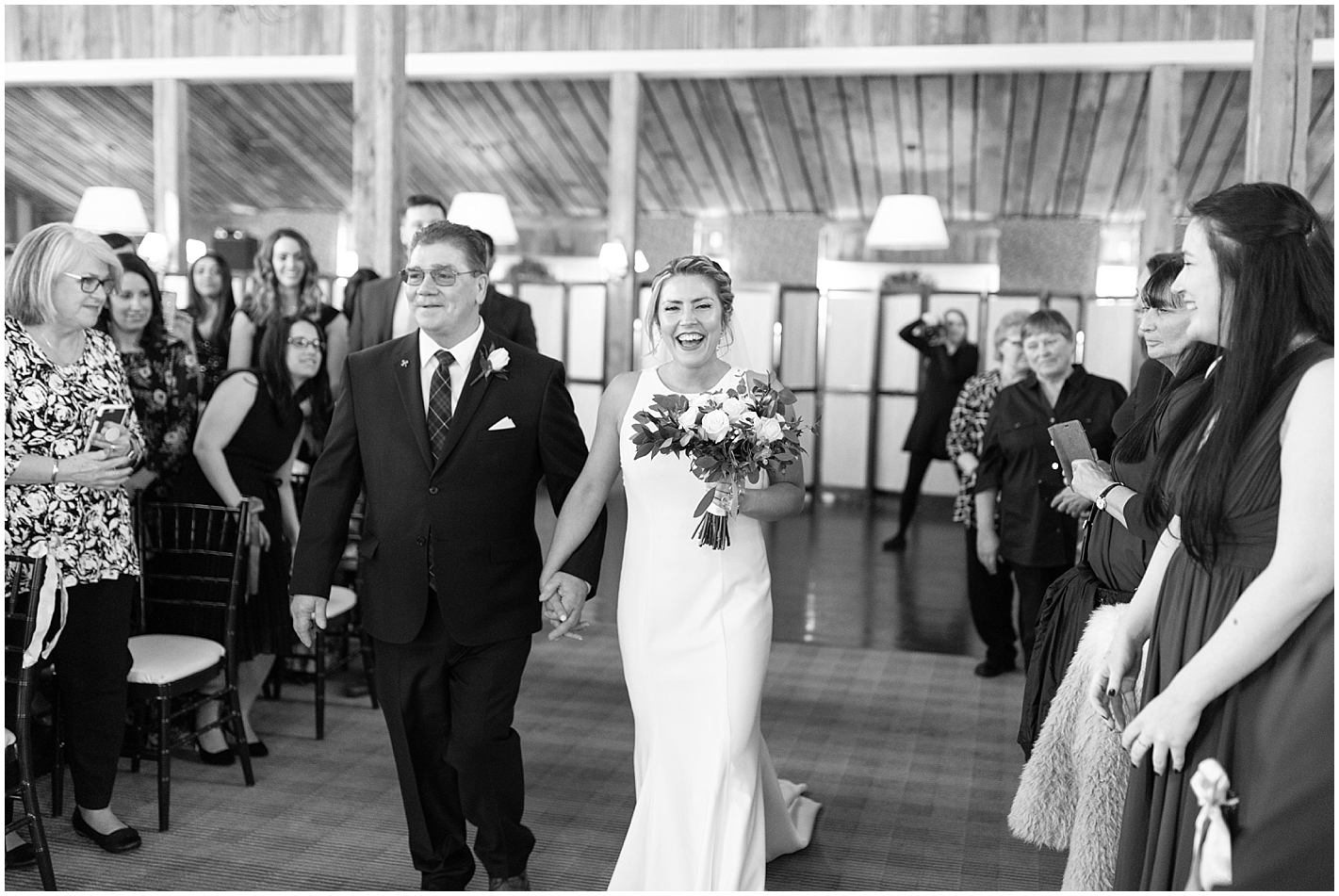 Bride walking down aisle Photos by Alyssa Parker Photography