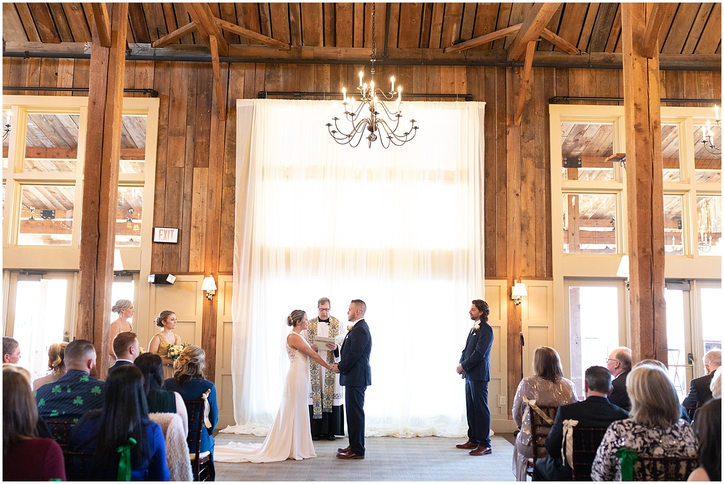 beautiful barn wedding ceremony at gibbet hill Photos by Alyssa Parker Photography