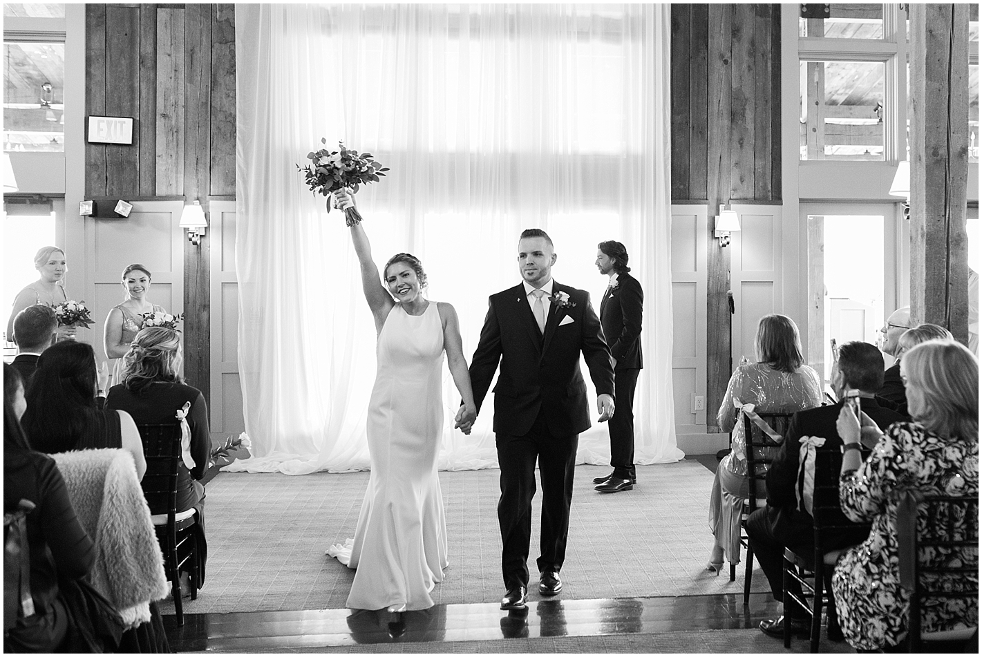 Bride and Groom walk down the aisle to The Office Theme Song Photos by Alyssa Parker Photography