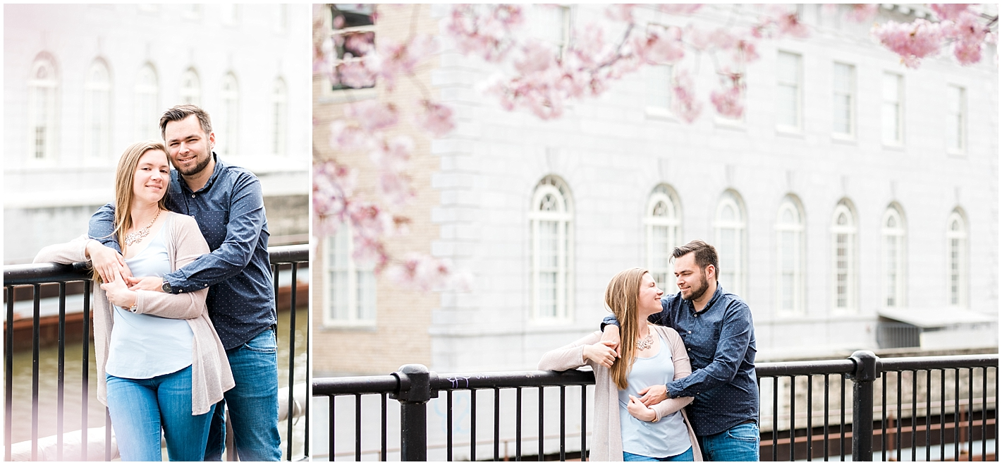 New England Spring Blossoming Trees Engagement Session by Alyssa Parker Photography