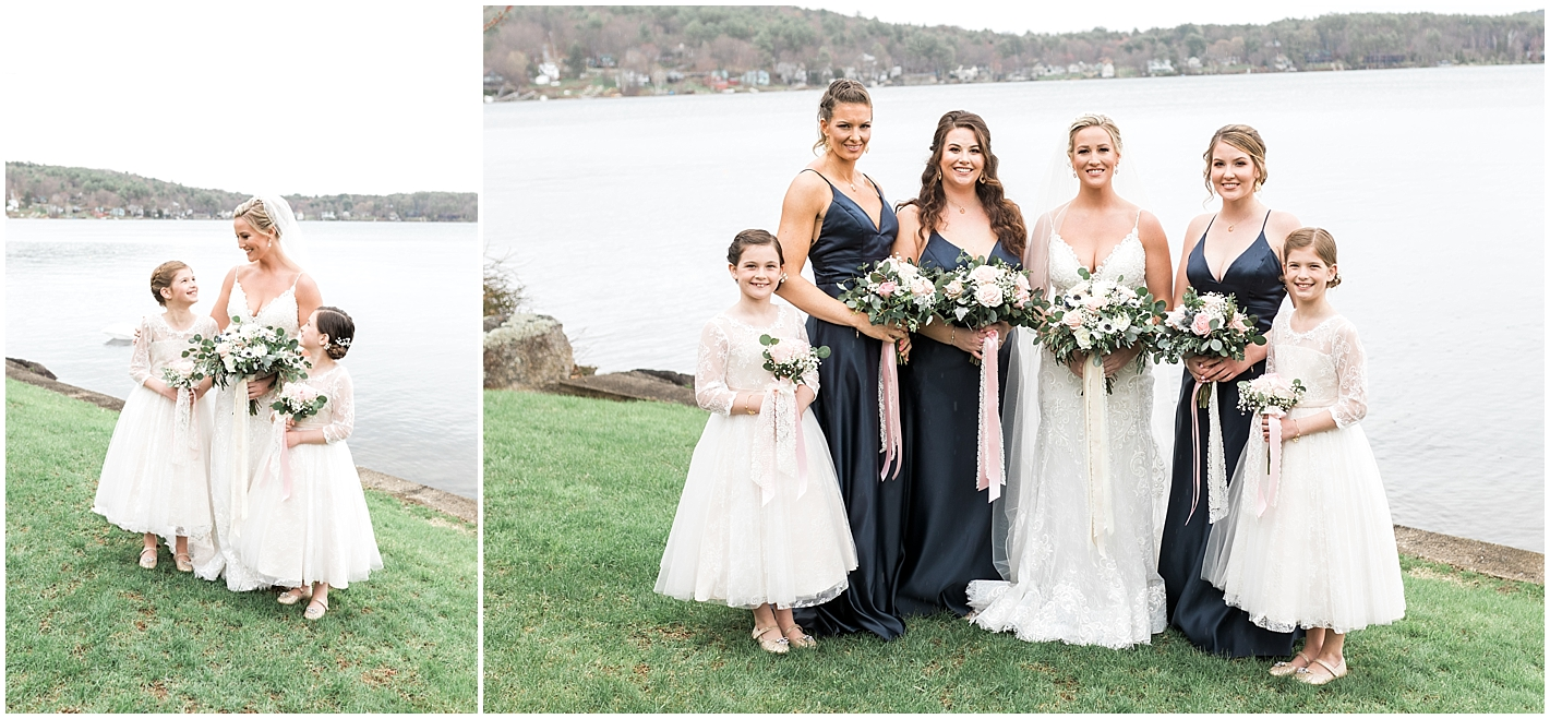 Navy and Pink Bridesmaids colors Photos by Alyssa Parker Photography