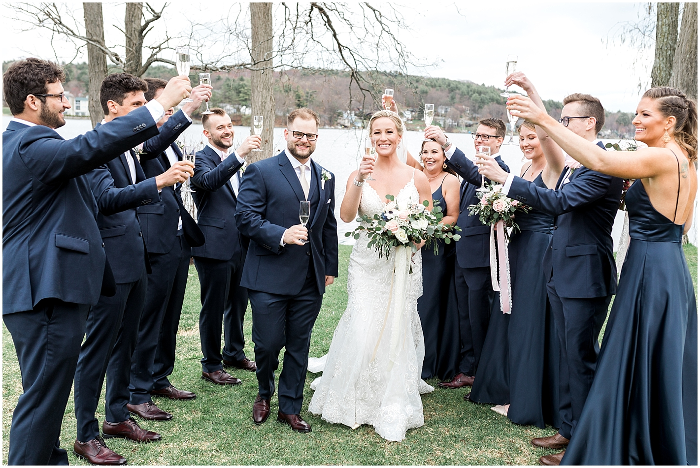 Fun and unique Wedding Party Portraits by Alyssa Parker Photography