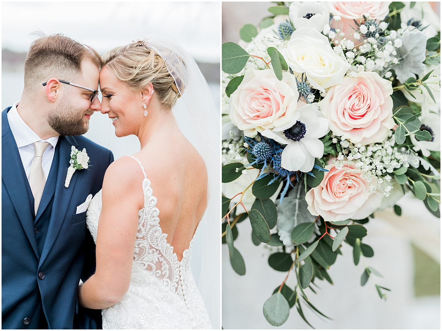 Detailed Back Lace and beaded Wedding Gown Photos by Alyssa Parker Photography