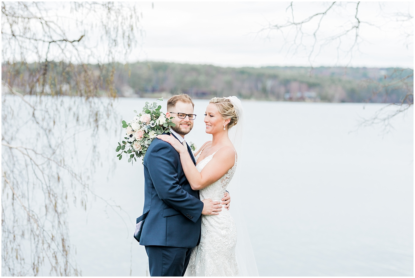 Spring Wedding at Lake Winnipesaukee, New Hampshire Photos by Alyssa Parker Photography