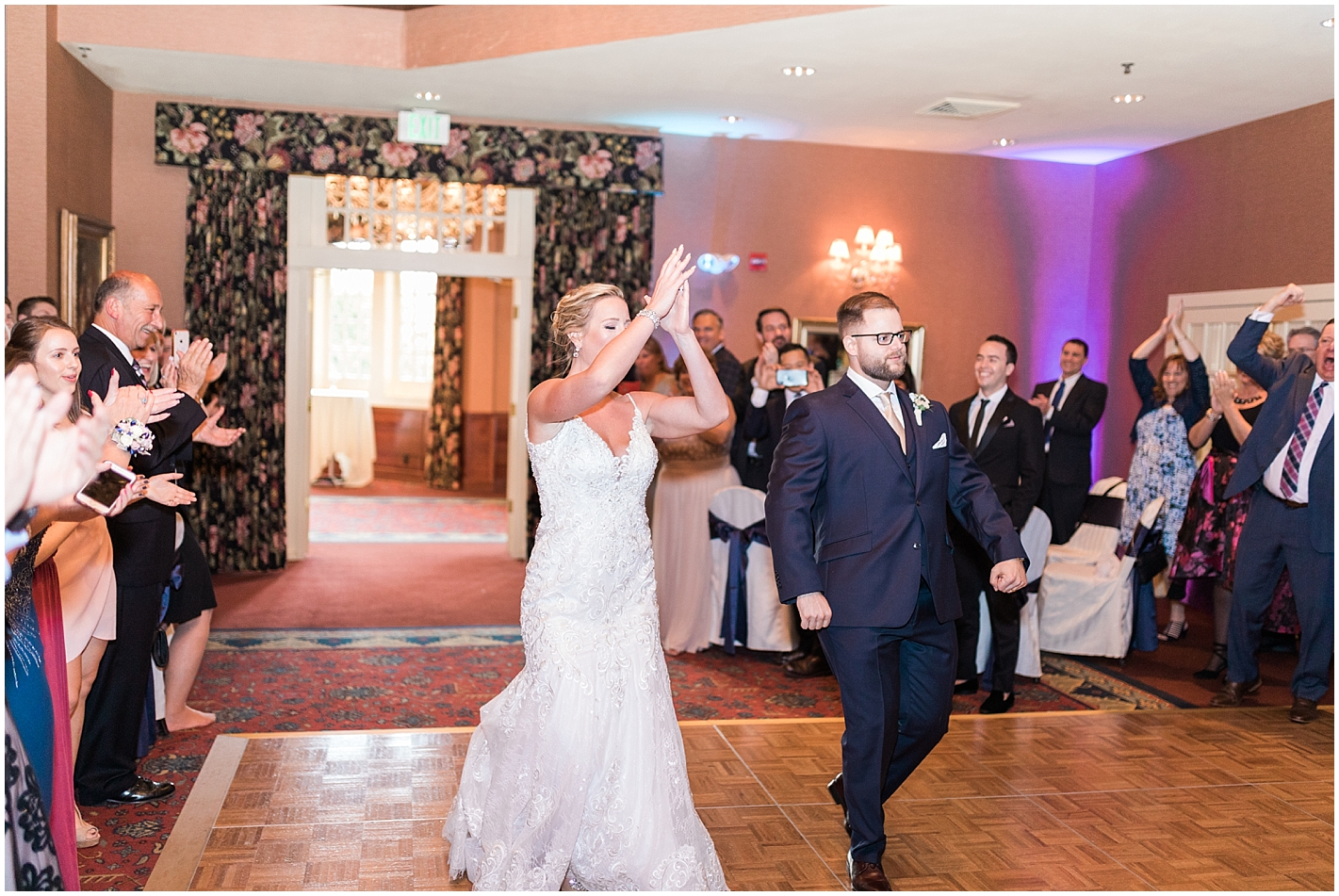 Bride and Groom Introductions in Ballroom Photos by Alyssa Parker Photography