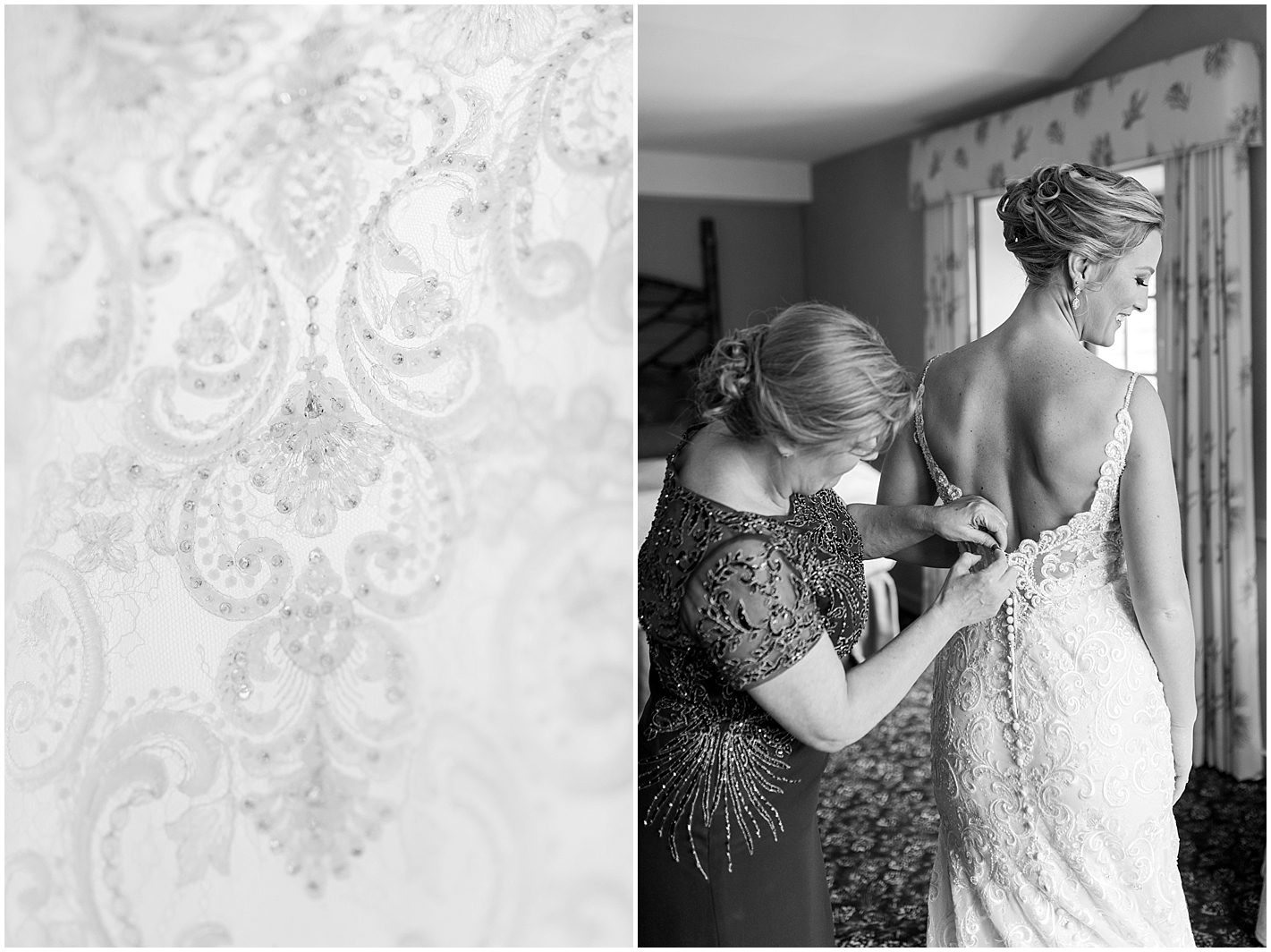 Mom and Daughter Getting Wedding Gown On Photos by Alyssa Parker Photography