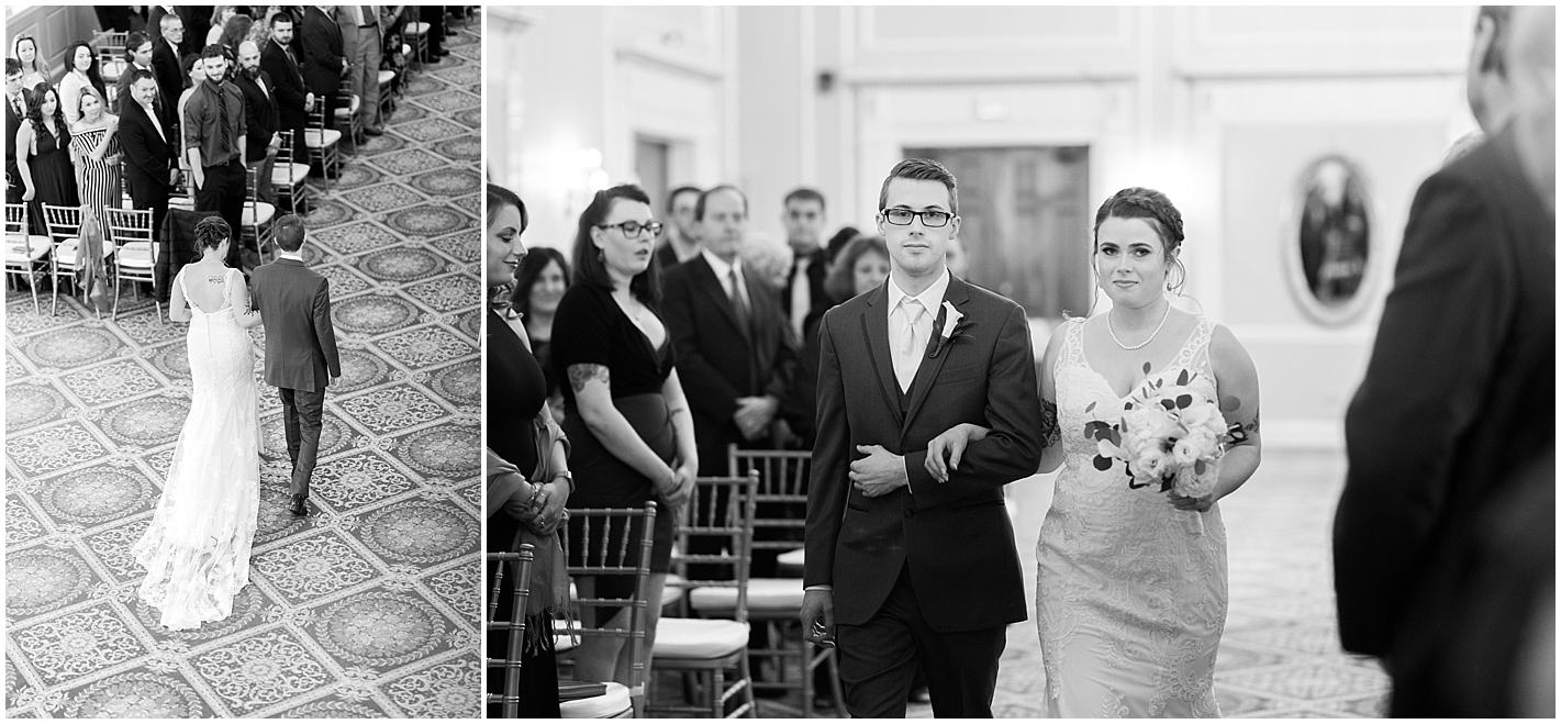 Brother Walks his Sister Down the Aisle Photos By Alyssa Parker Photography