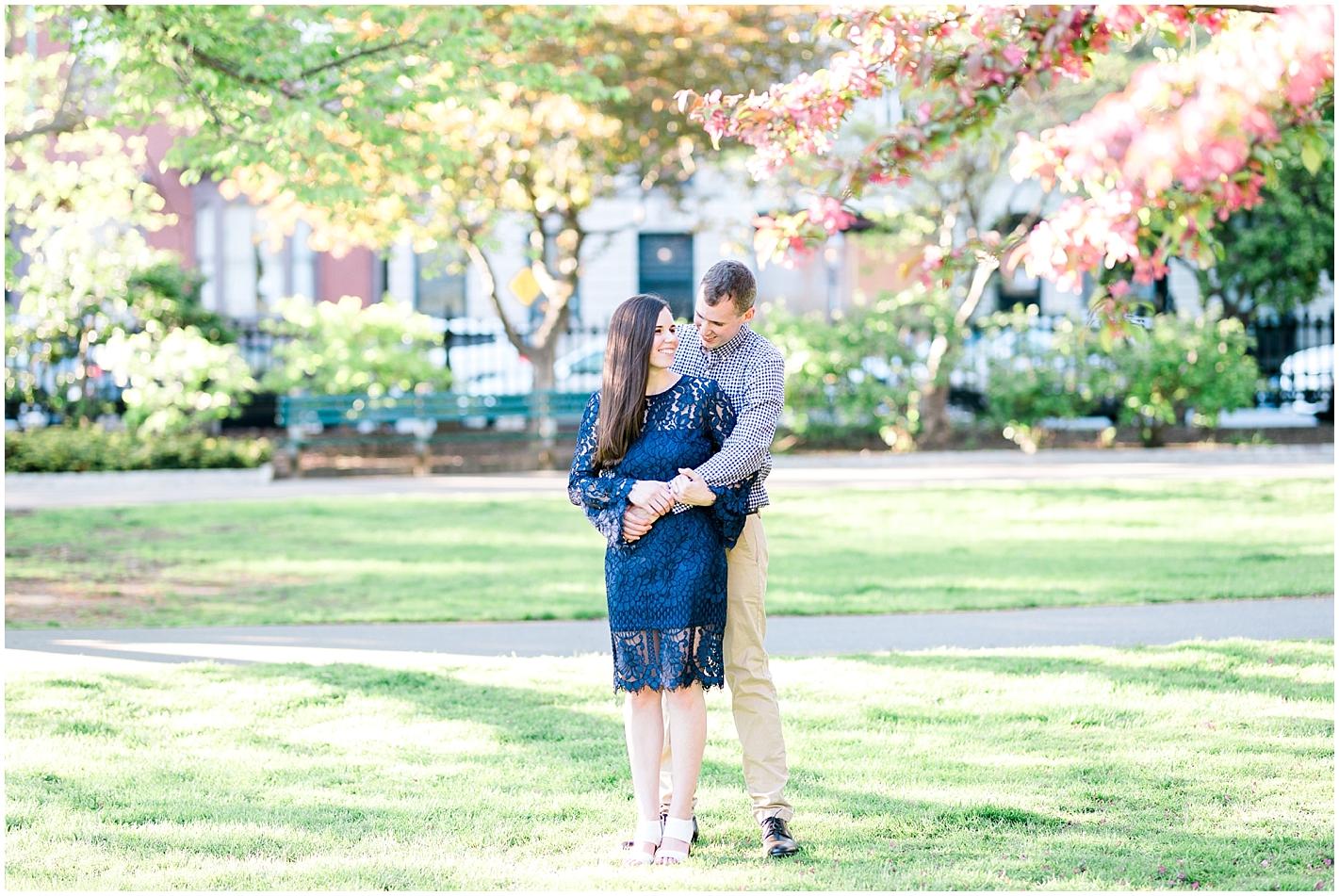 Boston Public Garden Engagement Photos by Alyssa Parker Photography