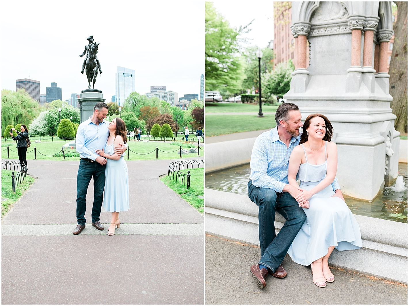 Couples photo shoot in downtown boston by Alyssa Parker Photography