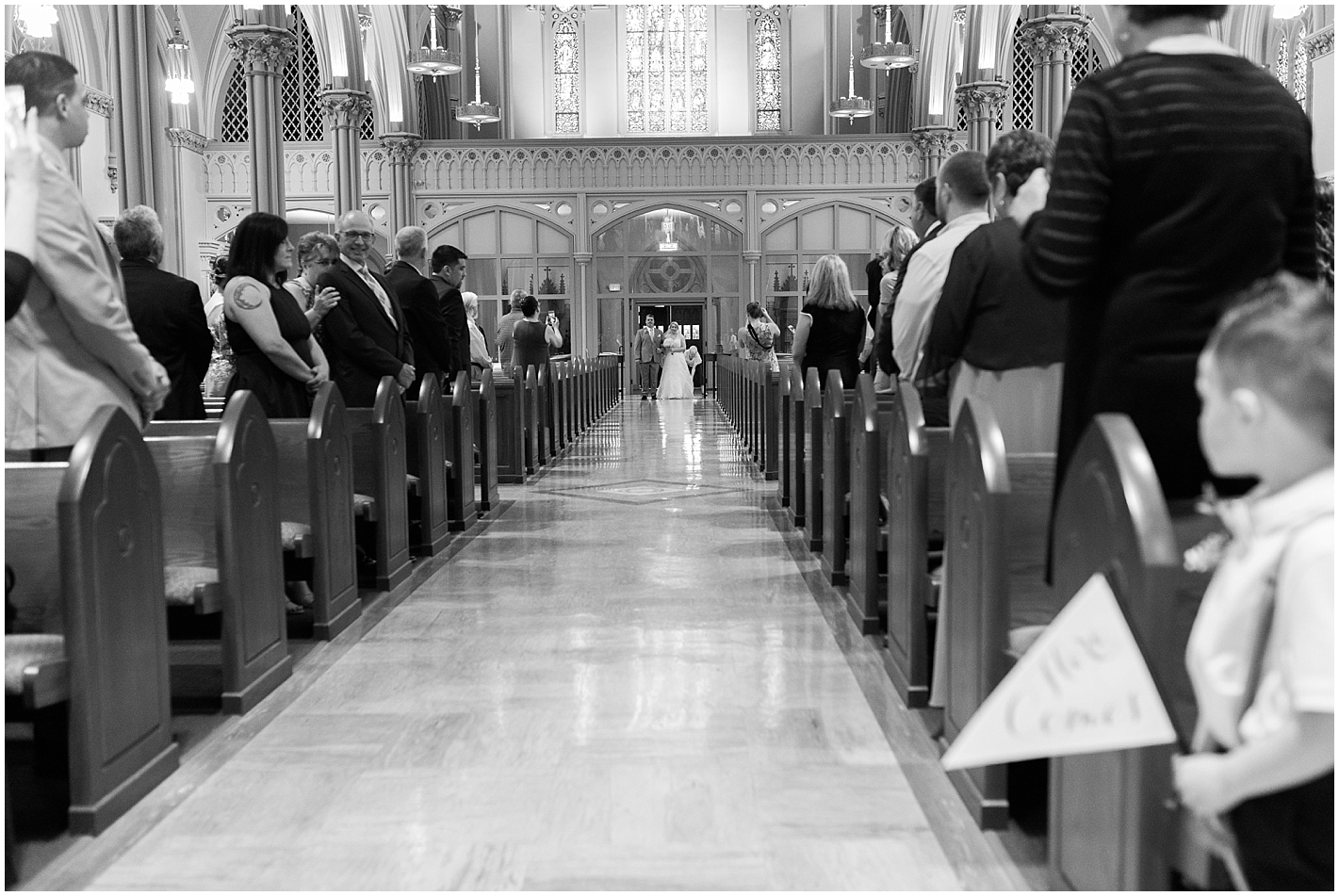 immaculate conception church Lowell MA wedding  photos by Alyssa Parker Photography