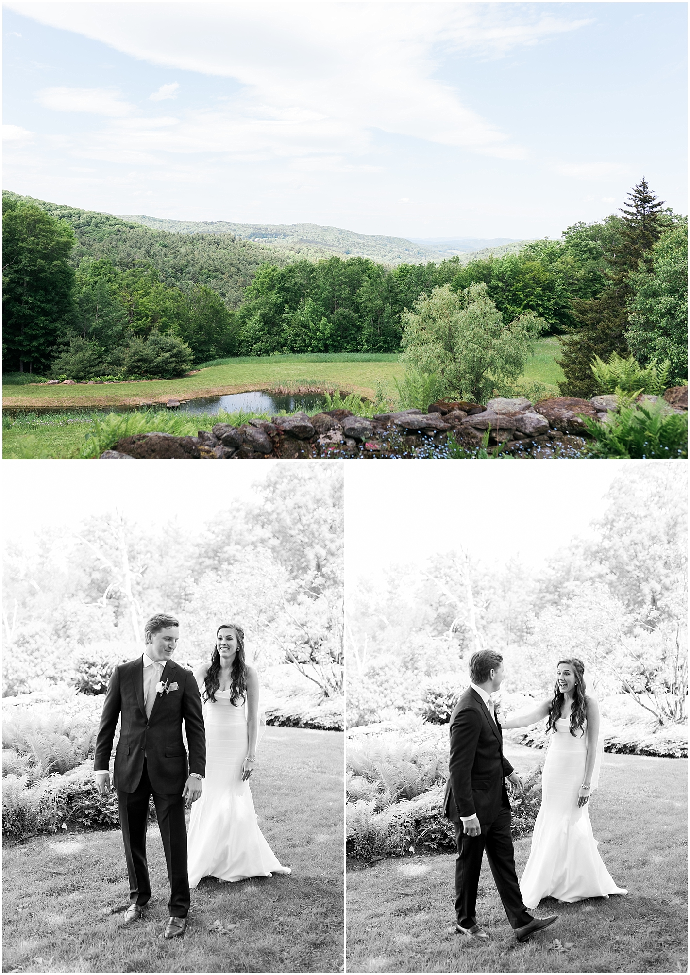 Vermont Mountain top first look Photos by Alyssa Parker Photography