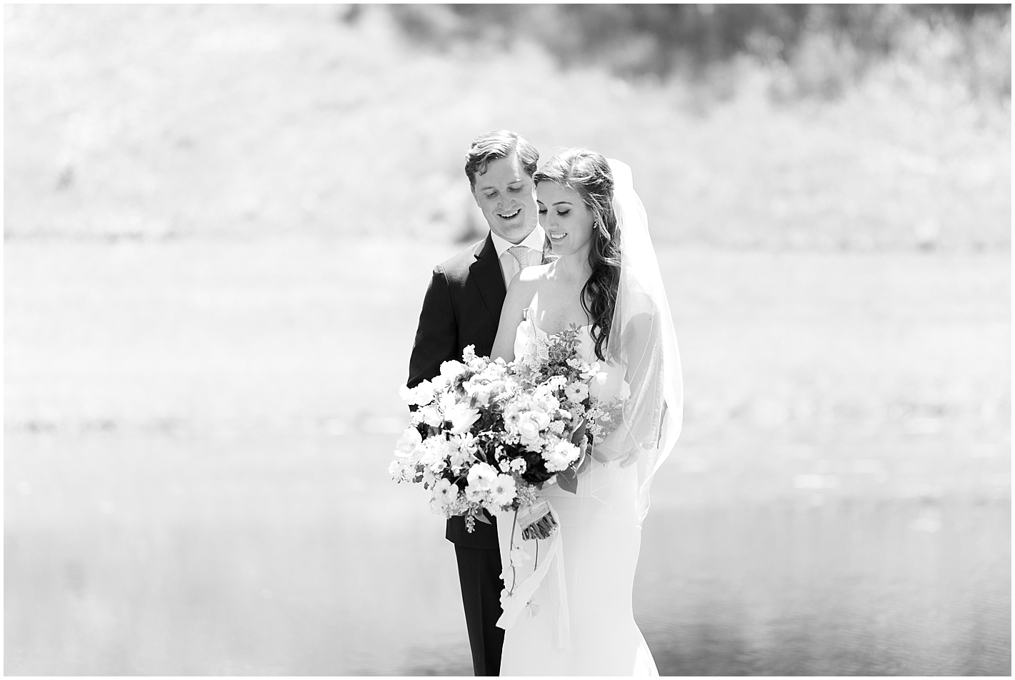 Classic Black and White Wedding Portrait by Alyssa Parker Photography