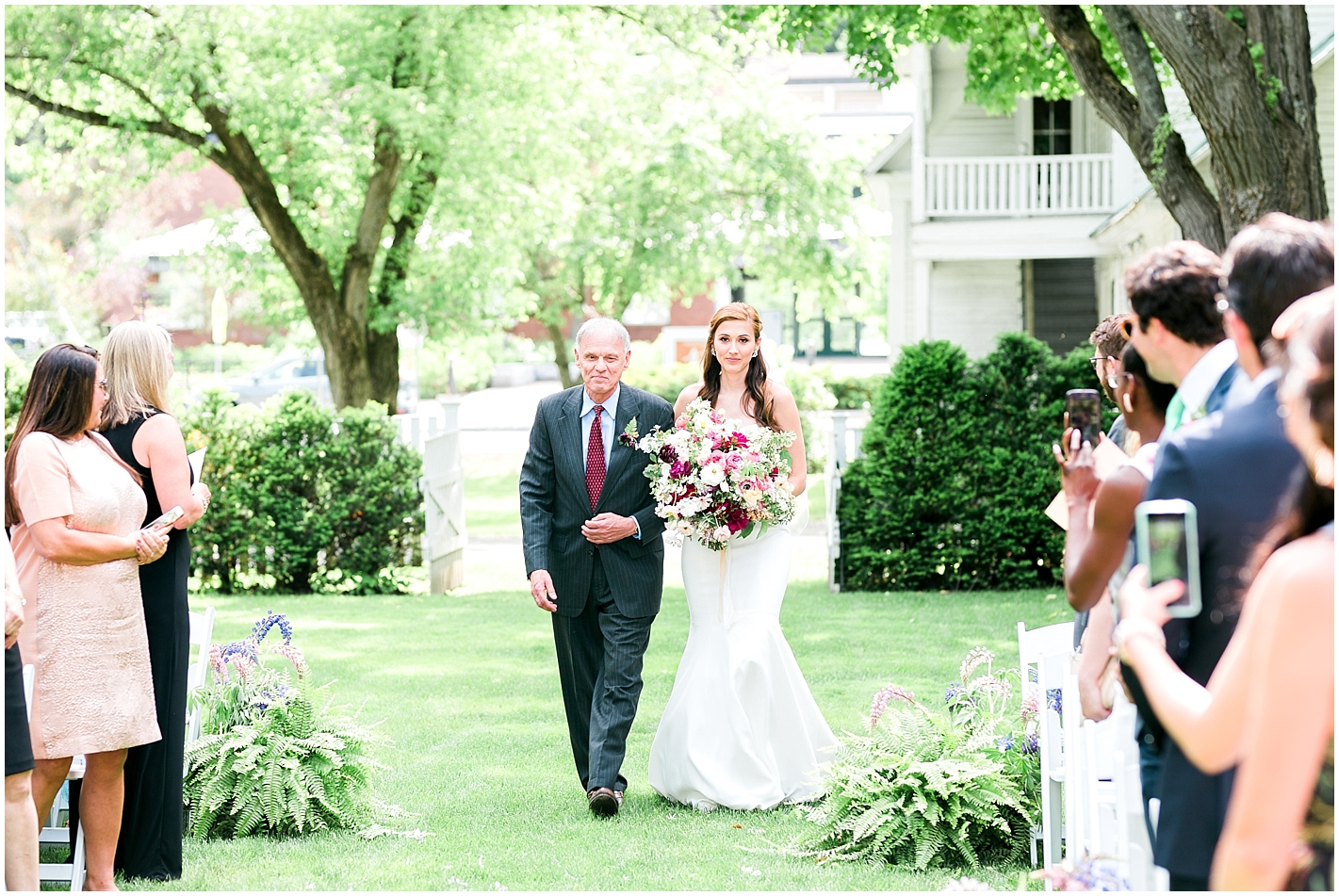 Beautiful Summer ceremony at Woodstock Inn Vermont Photos by Alyssa Parker Photography