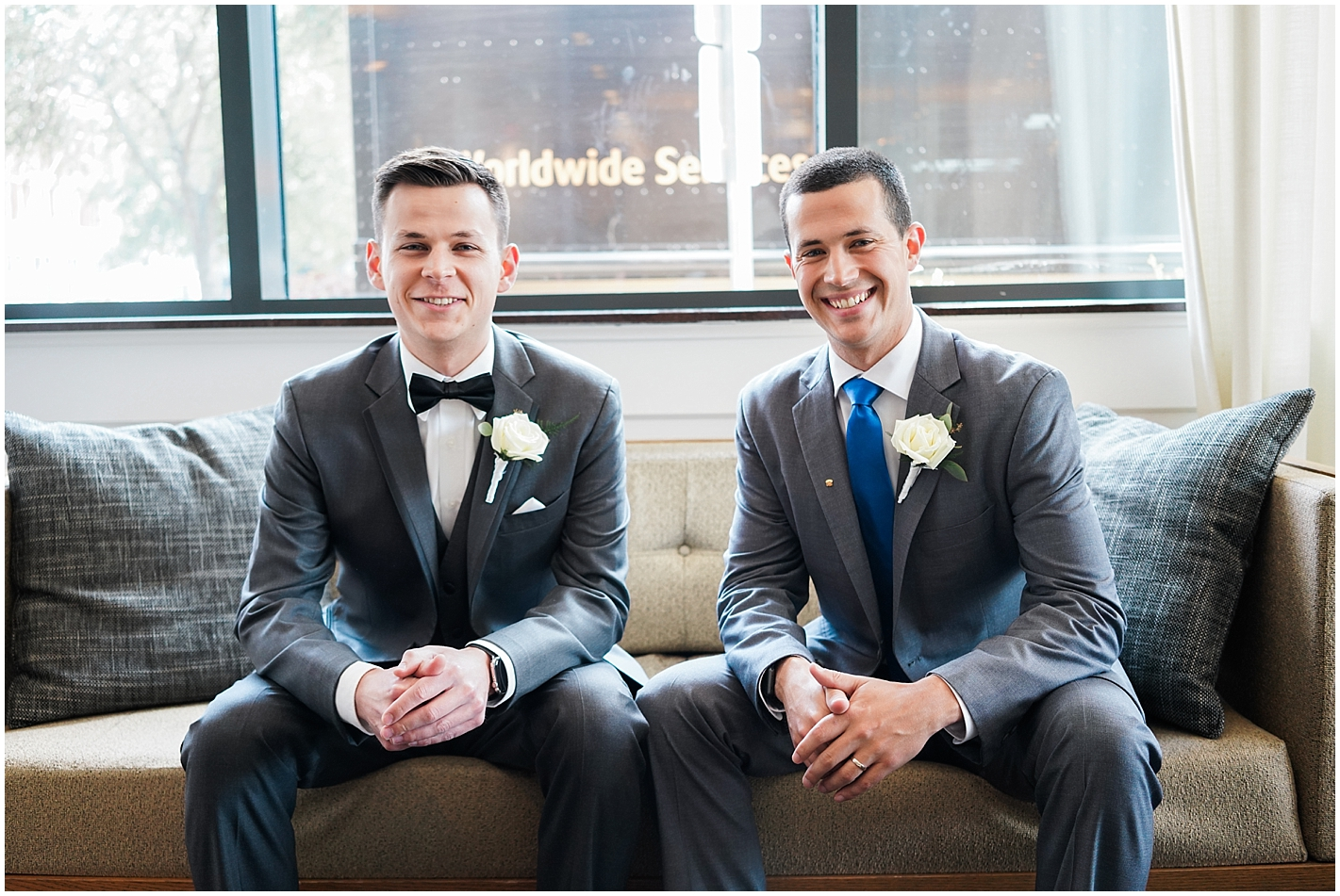 Groom and bestman Photo by Alyssa Parker Photography