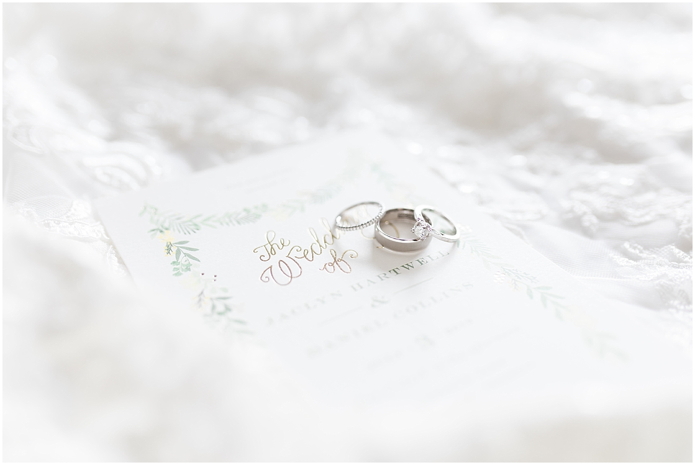 Wedding bands Photo by Alyssa Parker Photography
