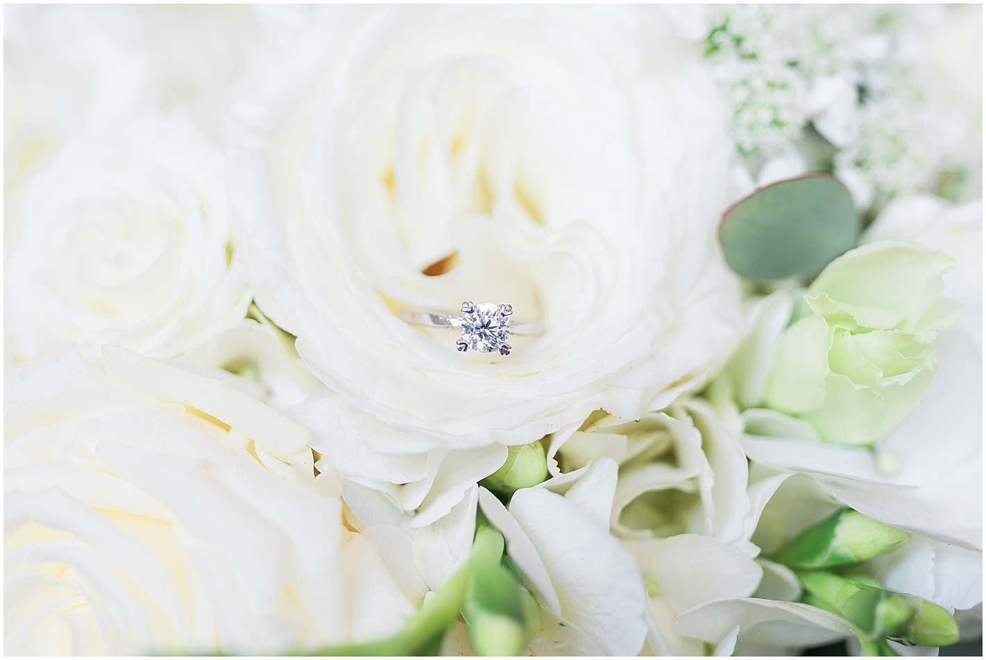 All White Bridal Bouquet Photo by Alyssa Parker Photography