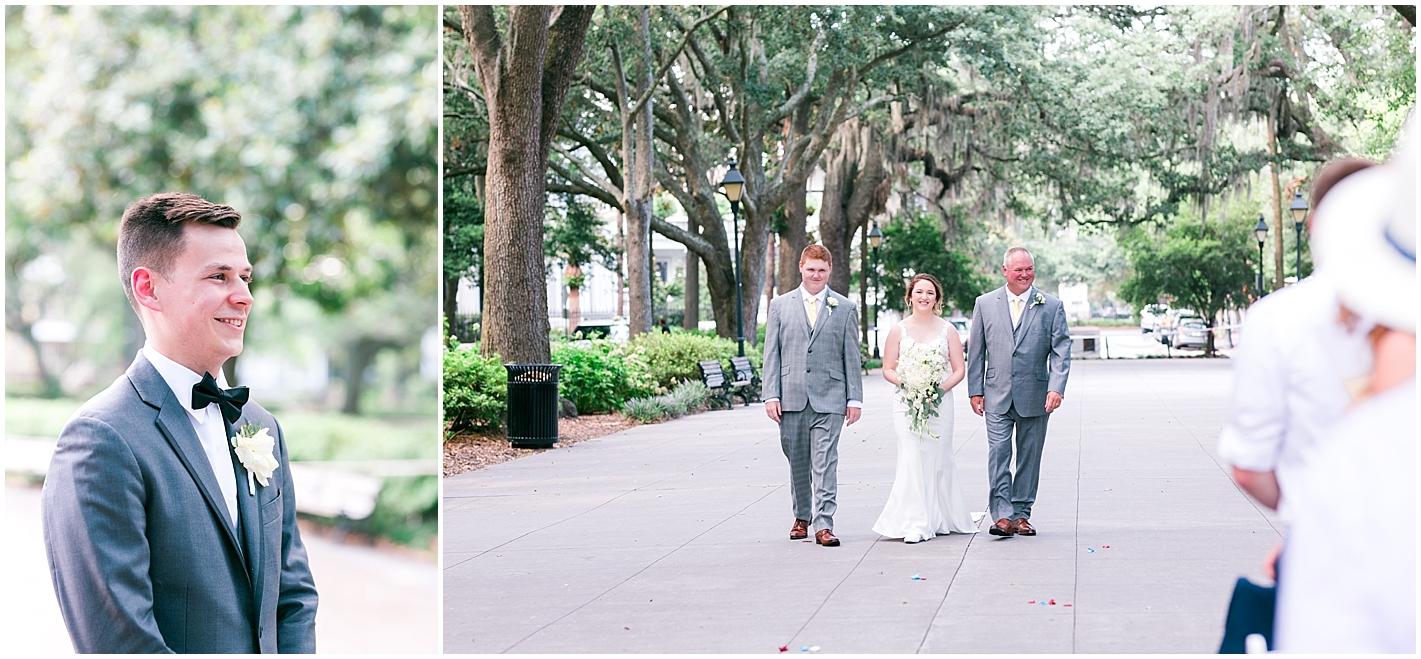 Forsyth Park Savannah GA Ceremony in July Photos by Alyssa Parker Photography