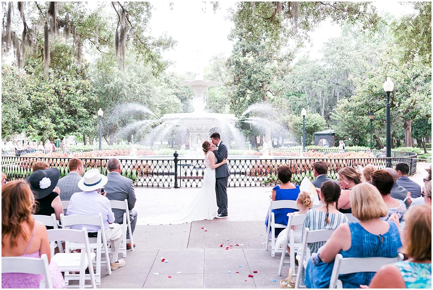 Forsyth Park Savannah GA Wedding Ceremony in July Photos by Alyssa Parker Photography