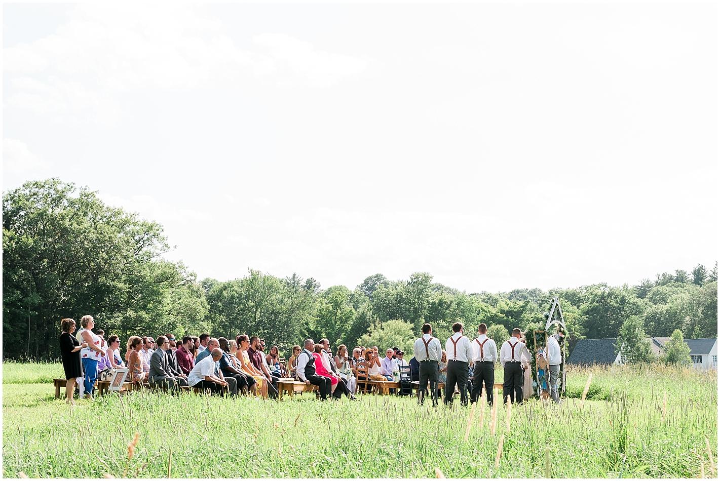 Wedding Ceremony Timber Hill Farm Photos by Alyssa Parker Photography