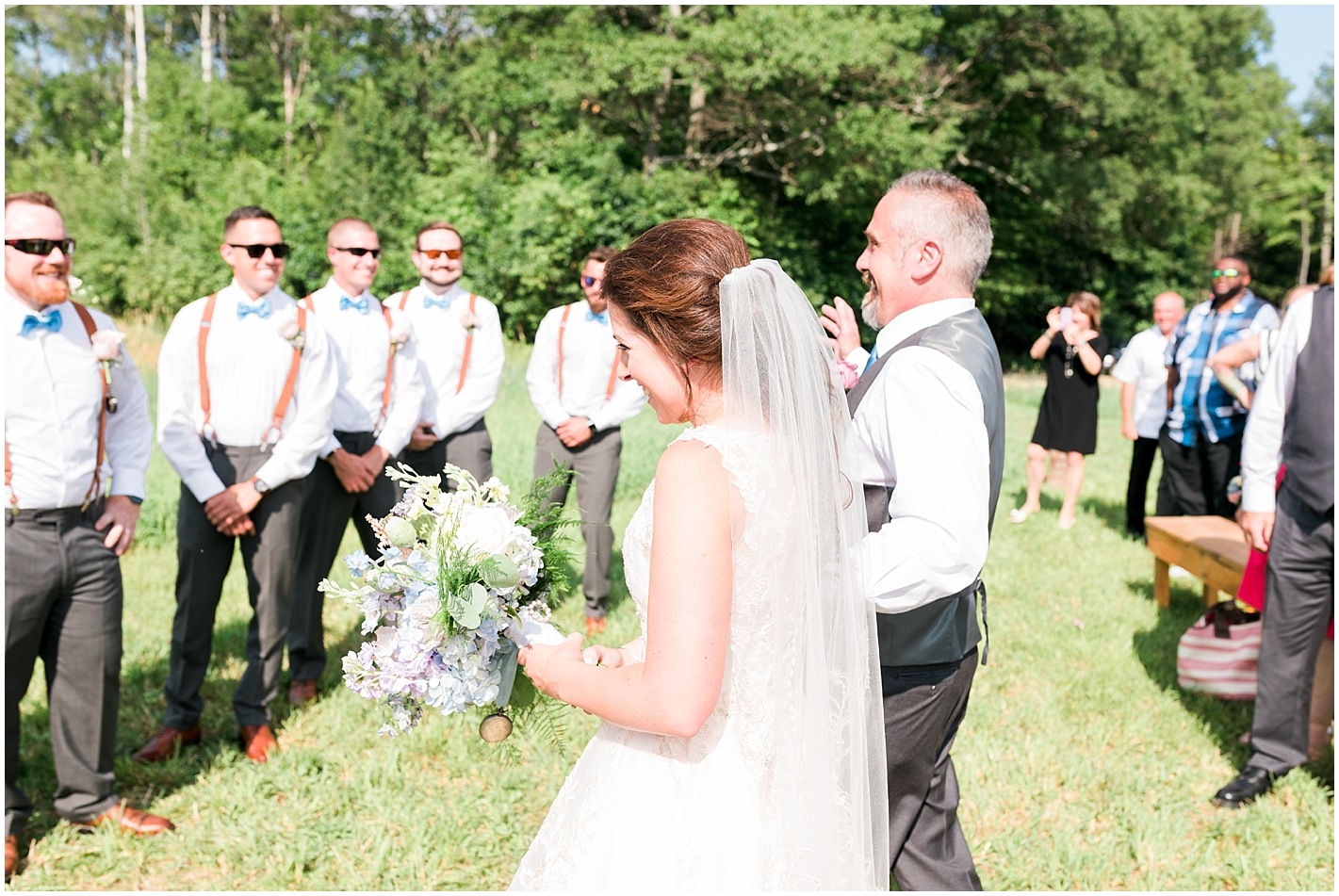 Wedding Ceremony Gilford New Hampshire Photos by Alyssa Parker Photography