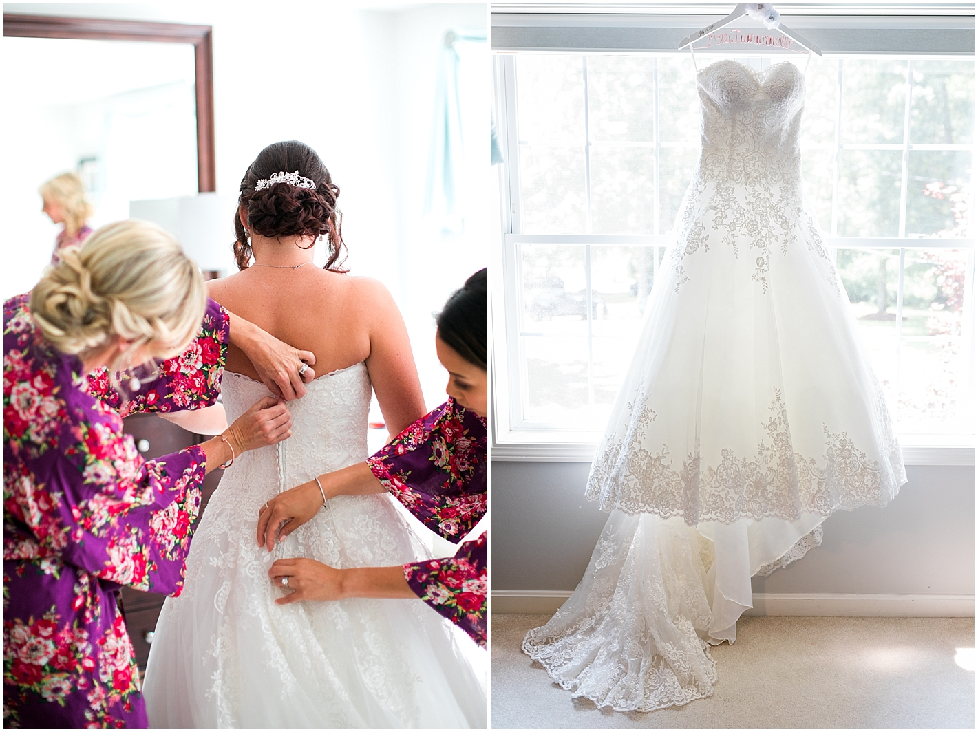 A line wedding dress photos by Alyssa Parker Photography