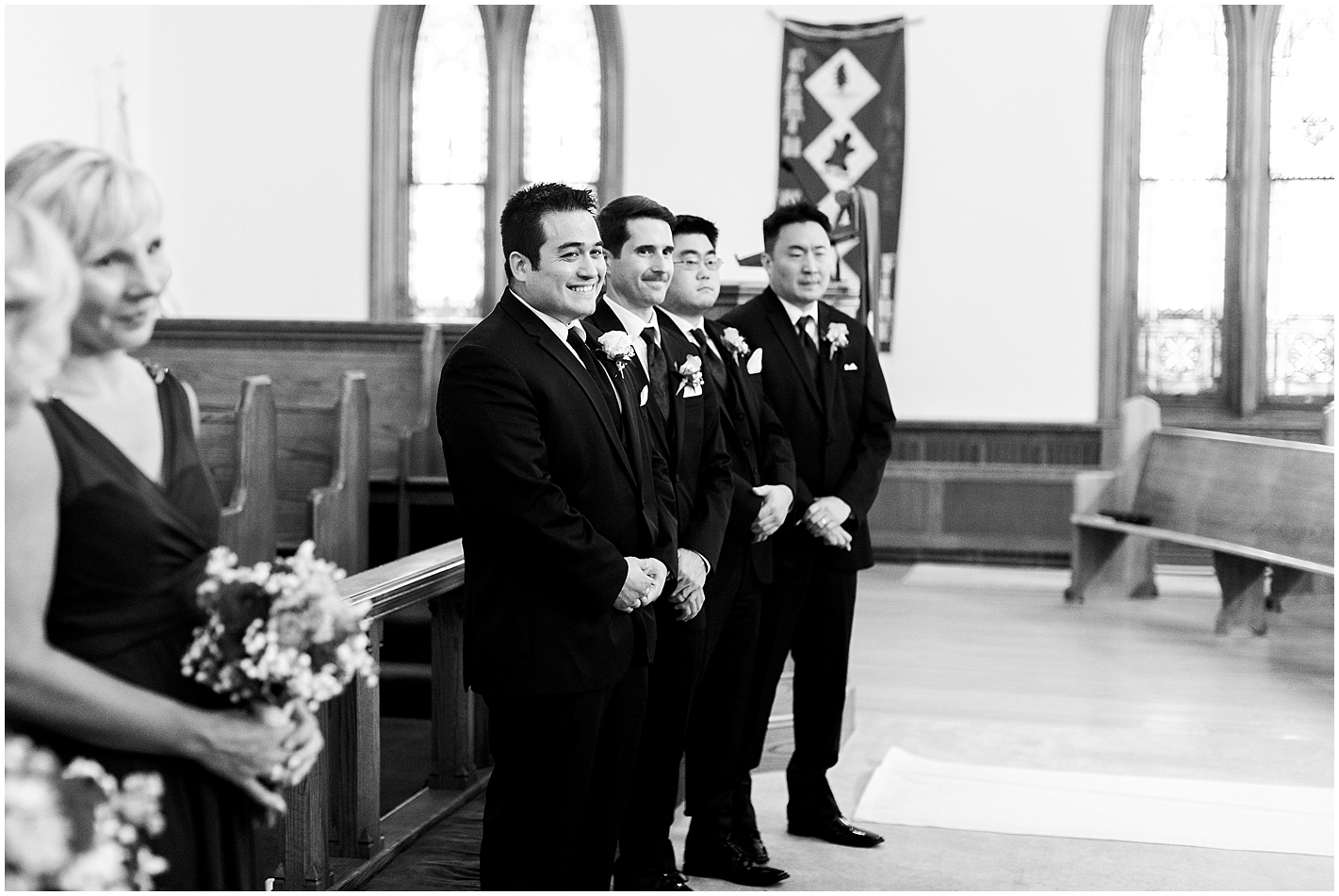 Grooms Reaction to bride walking down the aisle Photos by Alyssa Parker Photography