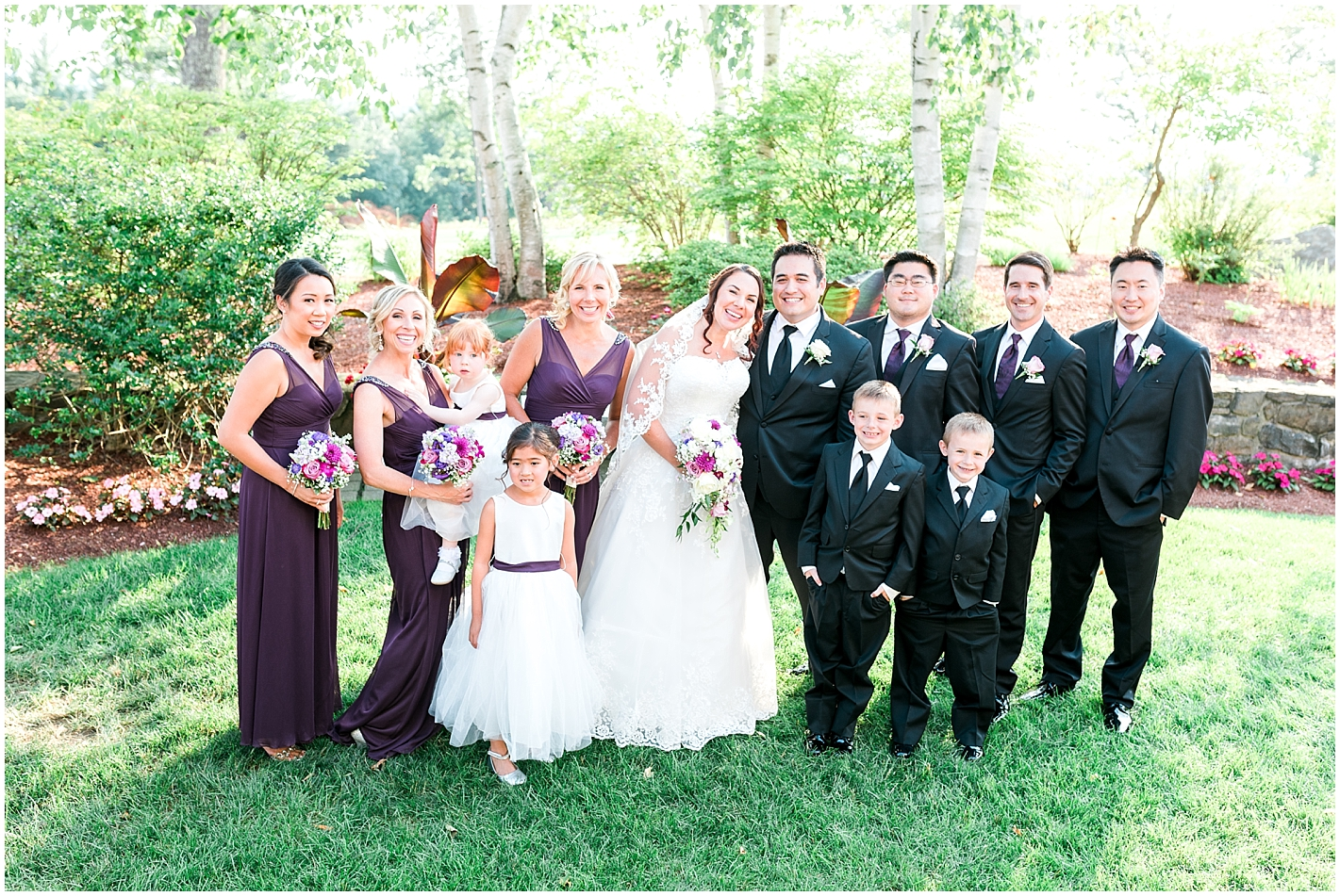 Bridal Party Sky Meadow Country Club Nashua New Hampshire Photos By Alyssa Parker Photography