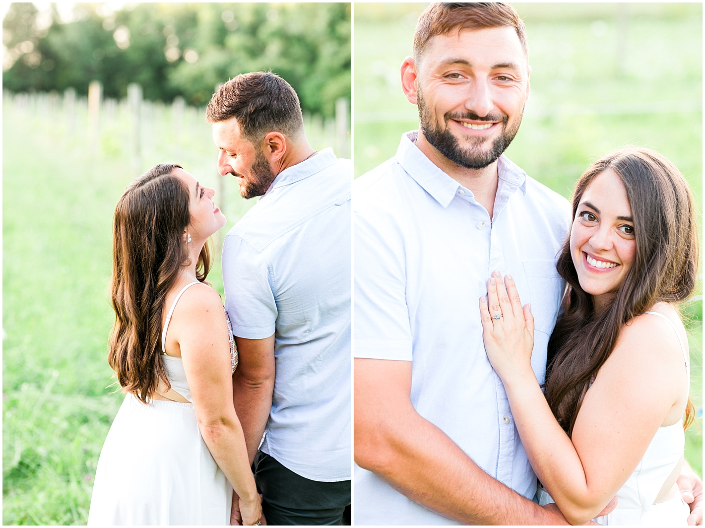 Engagement photos at Broken Creek Vineyard by Alyssa Parker Photography