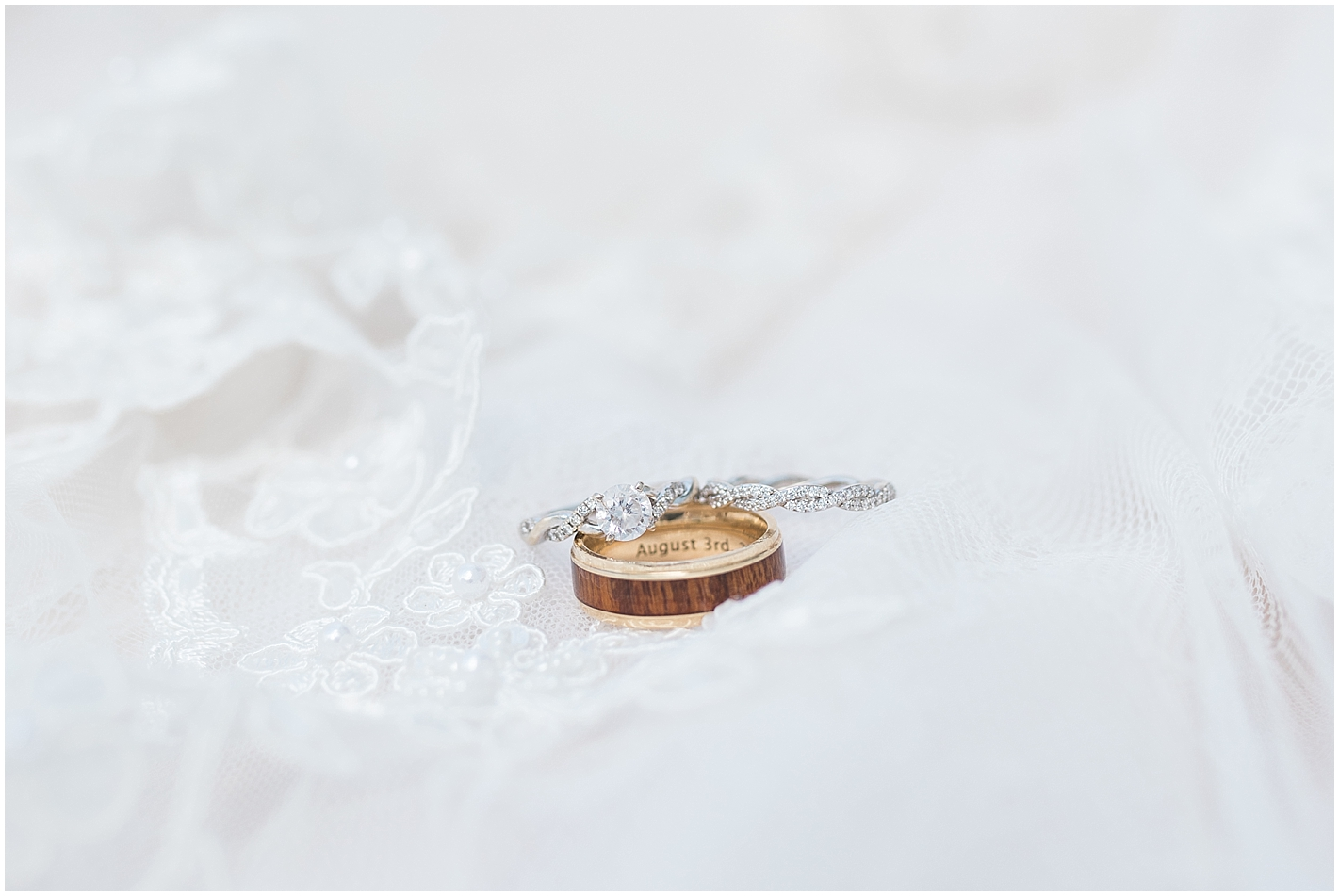 Engraved wedding ring photo by Alyssa Parker Photography