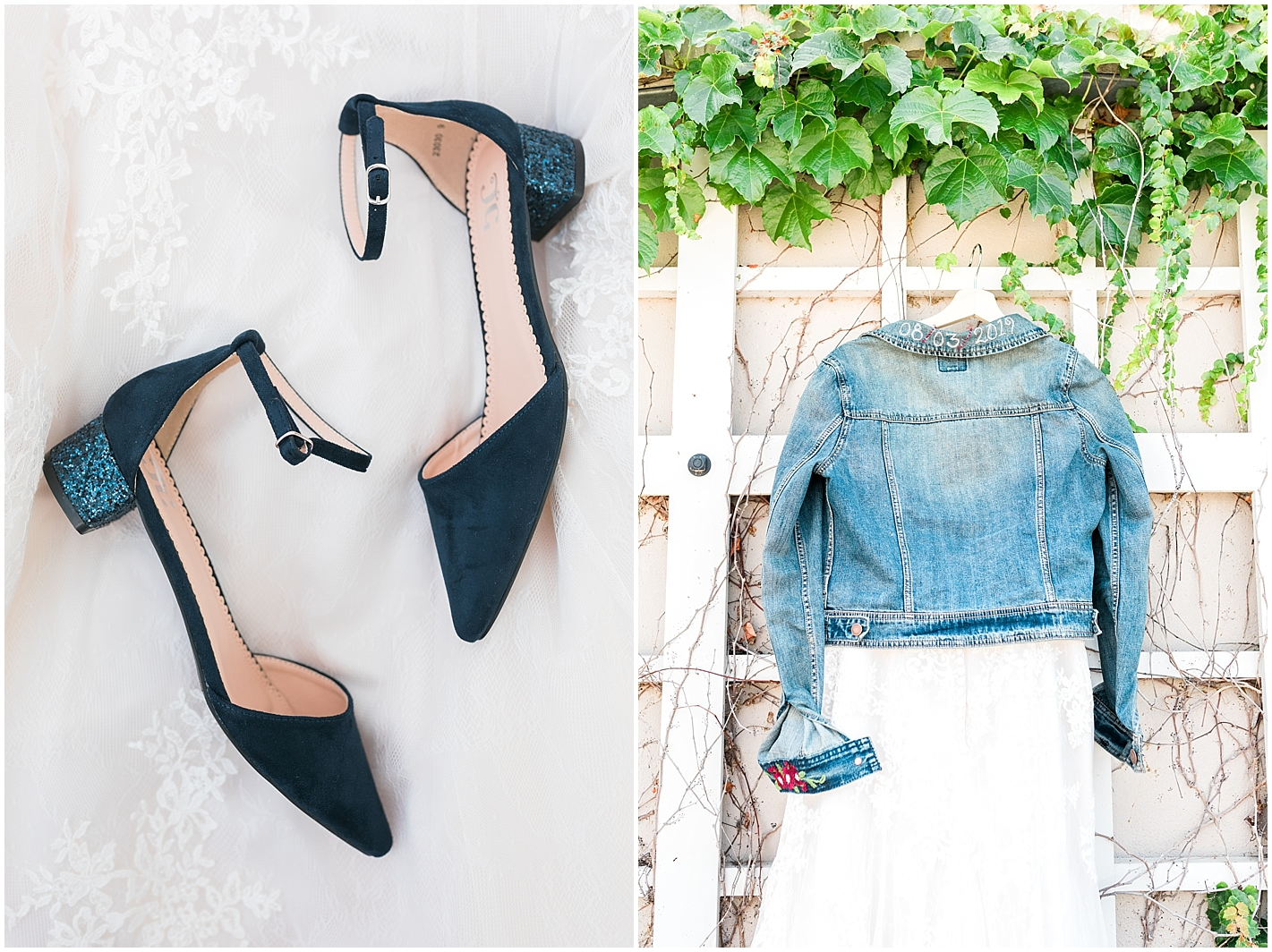 embroidered Jean Wedding jacked photo by Alyssa Parker Photography