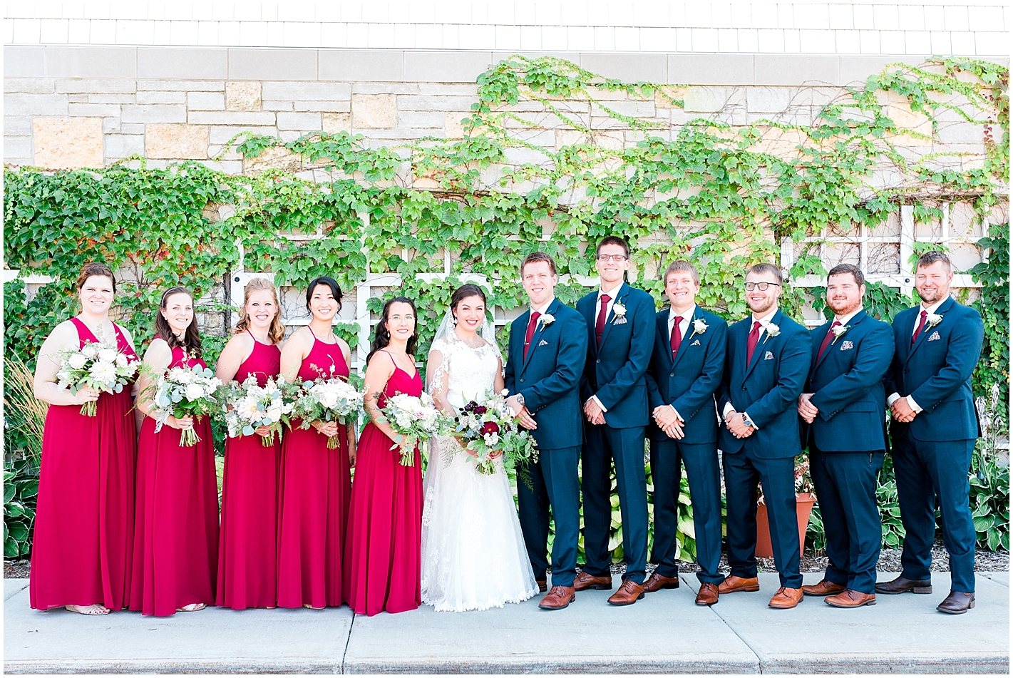 Red and Navy Bridal Party Colors By Alyssa Parker Photography