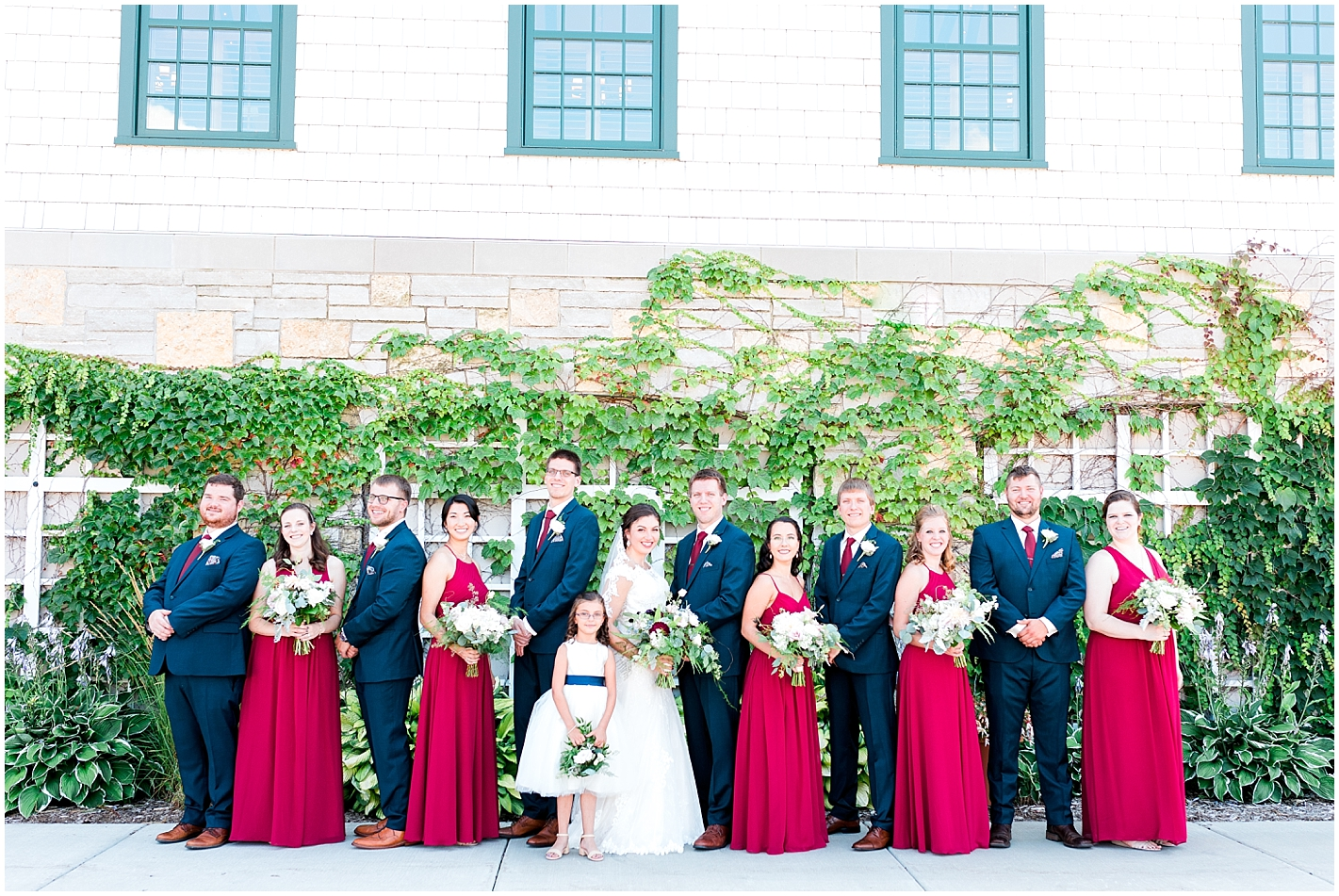 Wedding Party Formal Pose By Alyssa Parker Photography