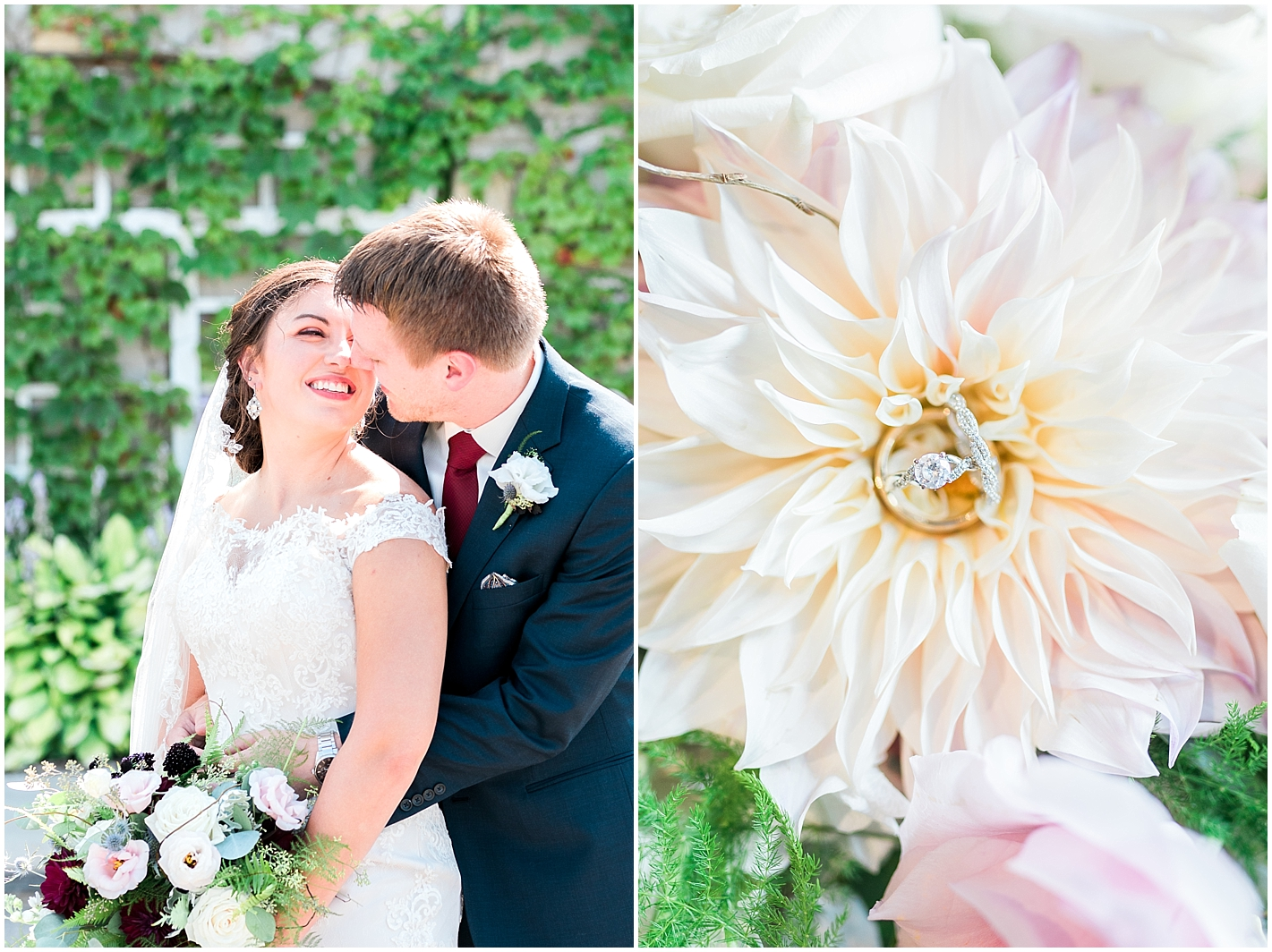 Bride and Groom Portrait at Keller Golf Course Minneapolis MN By Alyssa Parker Photography