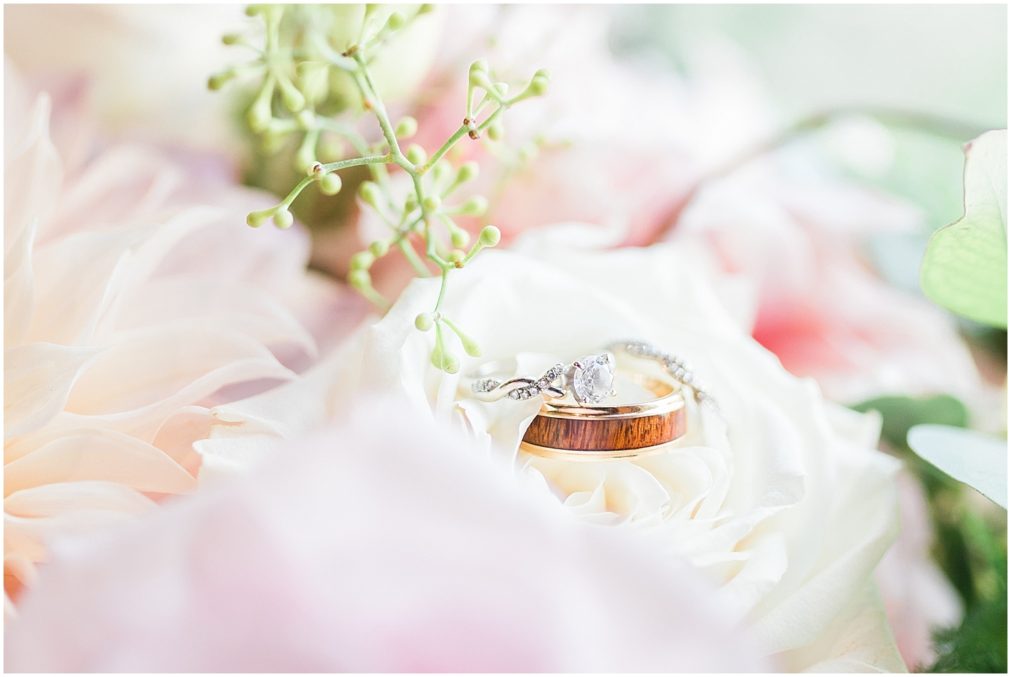 Wood and Gold Mens wedding band photo by Alyssa Parker Photography