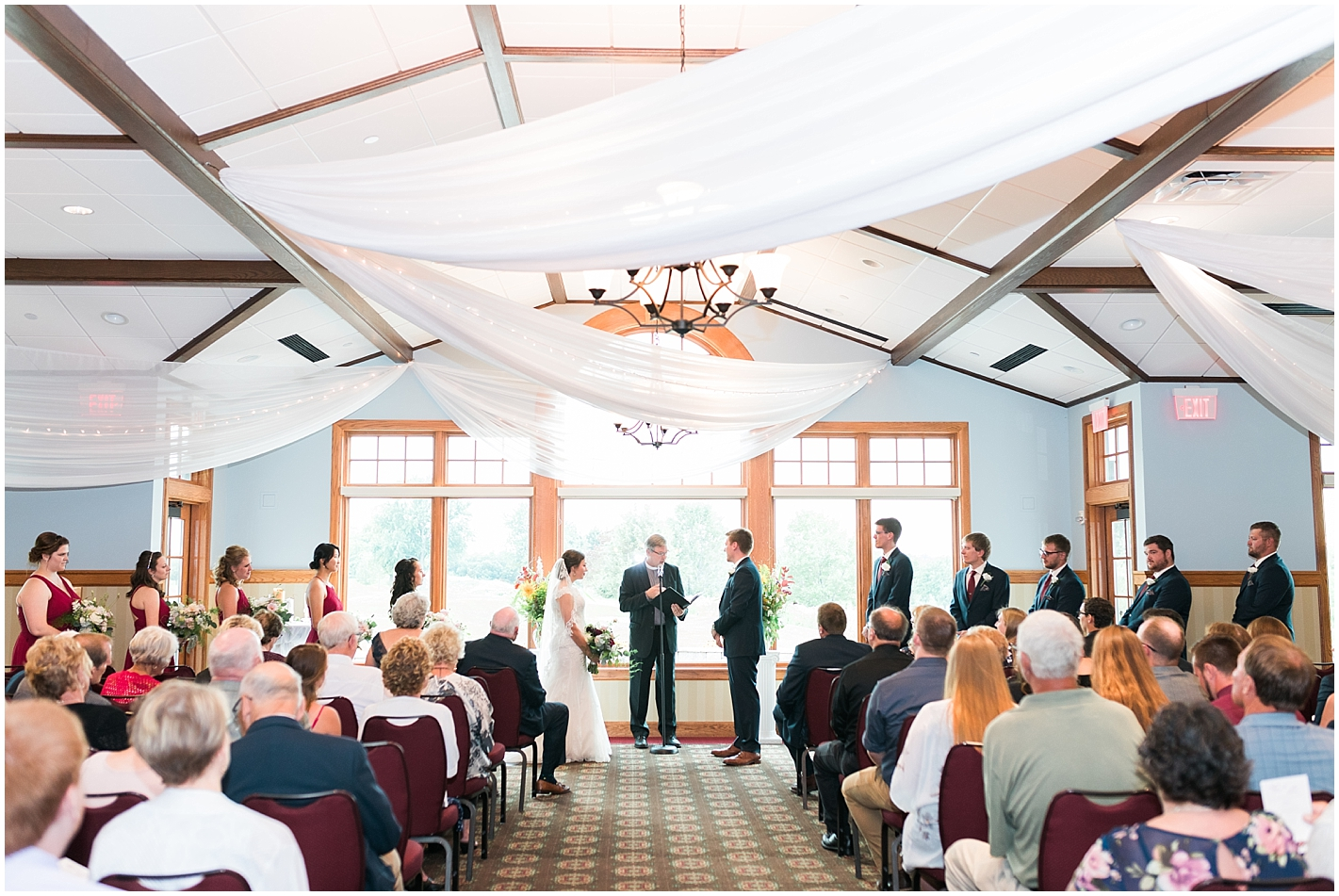 Indoor Ceremony at Keller Golf Course wedding Minneapolis MN Photos by Alyssa Parker Photography