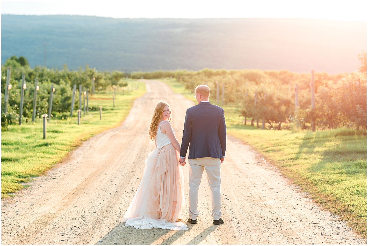 Pink skirt white top engagement photo outfits by Alyssa Parker Photography