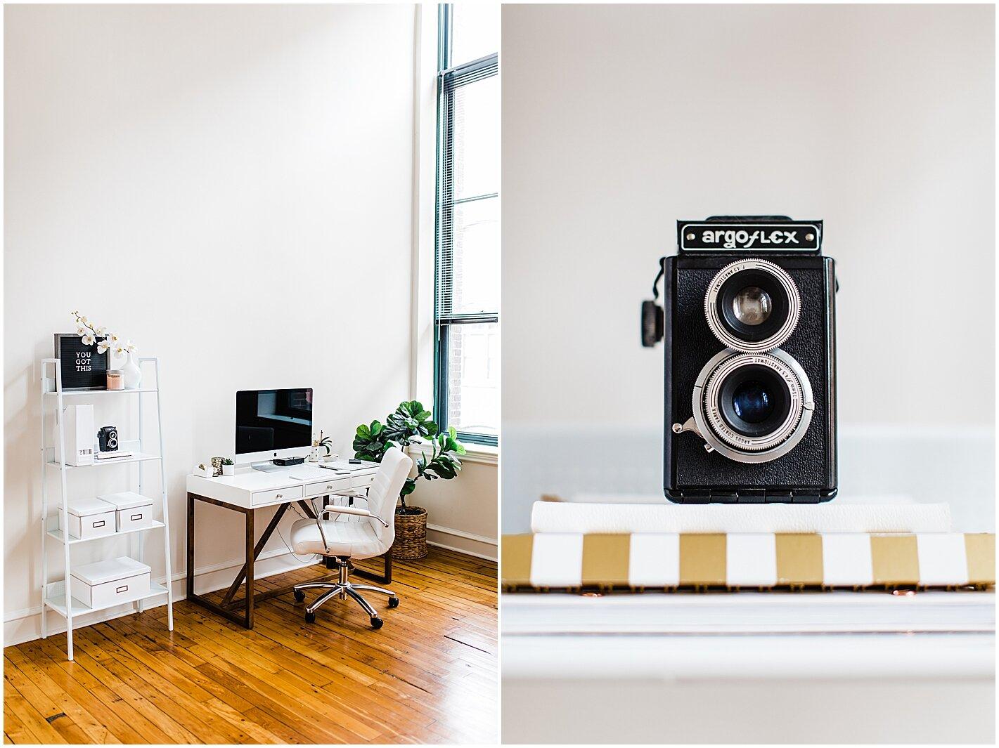 Photographers home office Alyssa Parker Photography