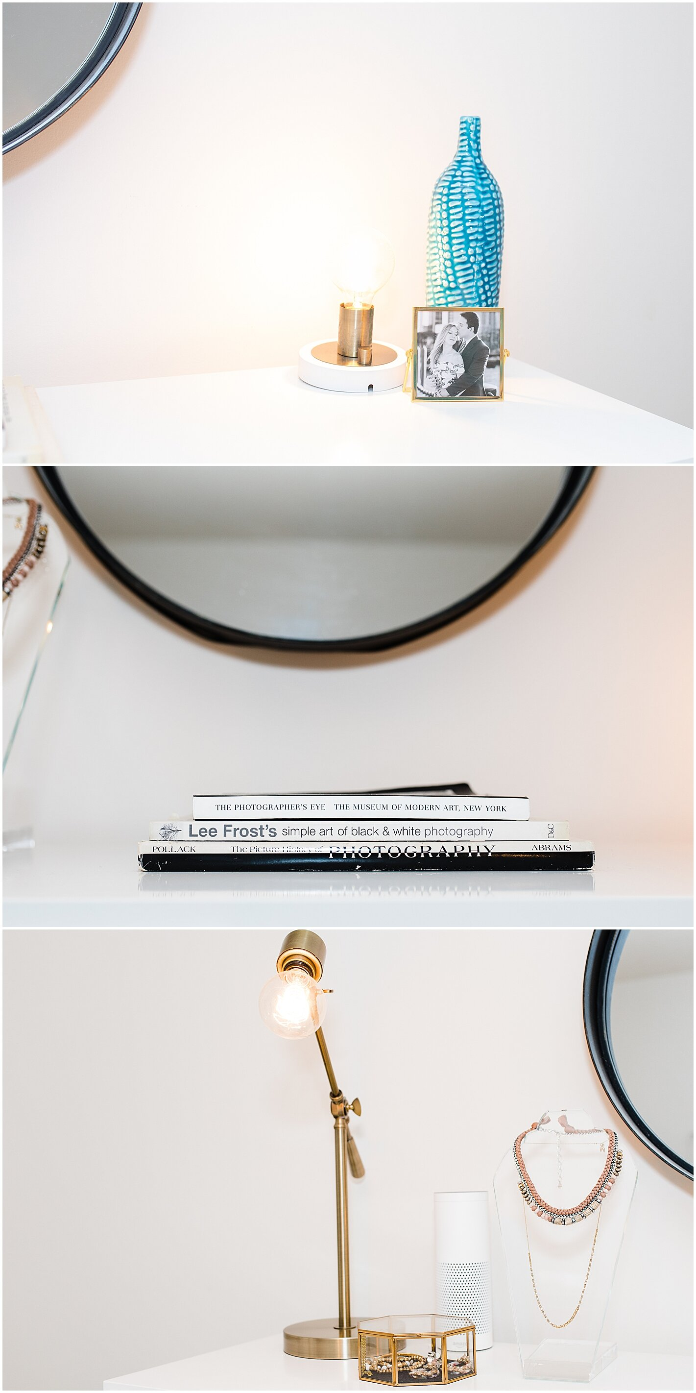 Modern Dresser Decor photo by Alyssa Parker Photography