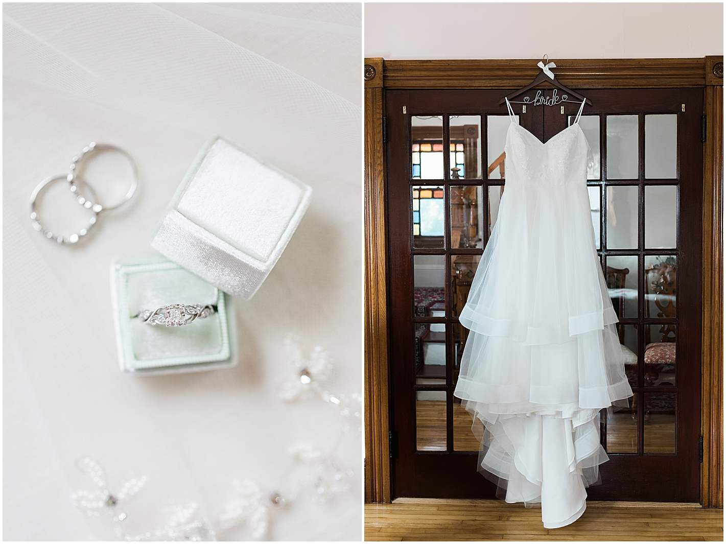 Wedding Dress with layers Photo by Alyssa Parker Photography