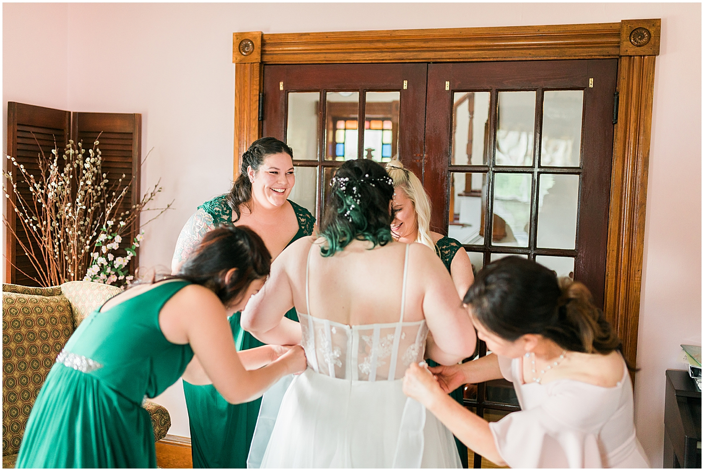 Sheer back Wedding gown Photo by Alyssa Parker Photography
