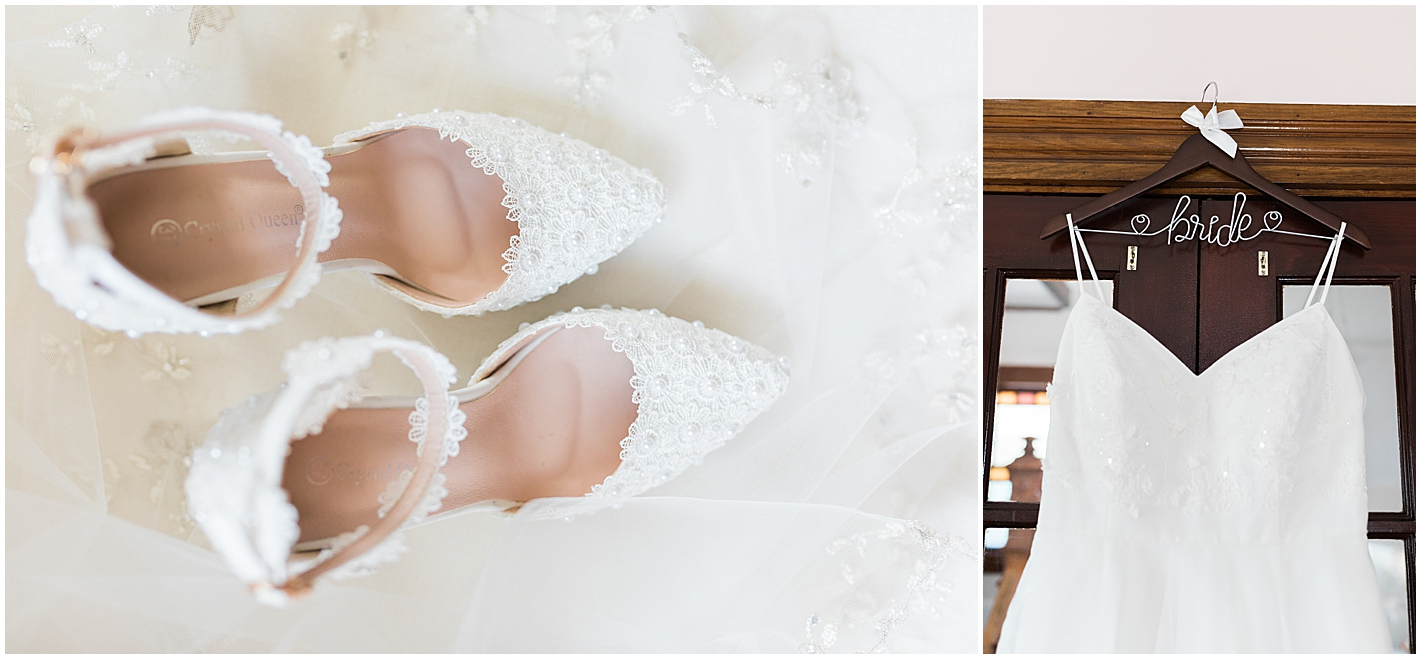Pearl and Lace Wedding Shoes Photo by Alyssa Parker Photography