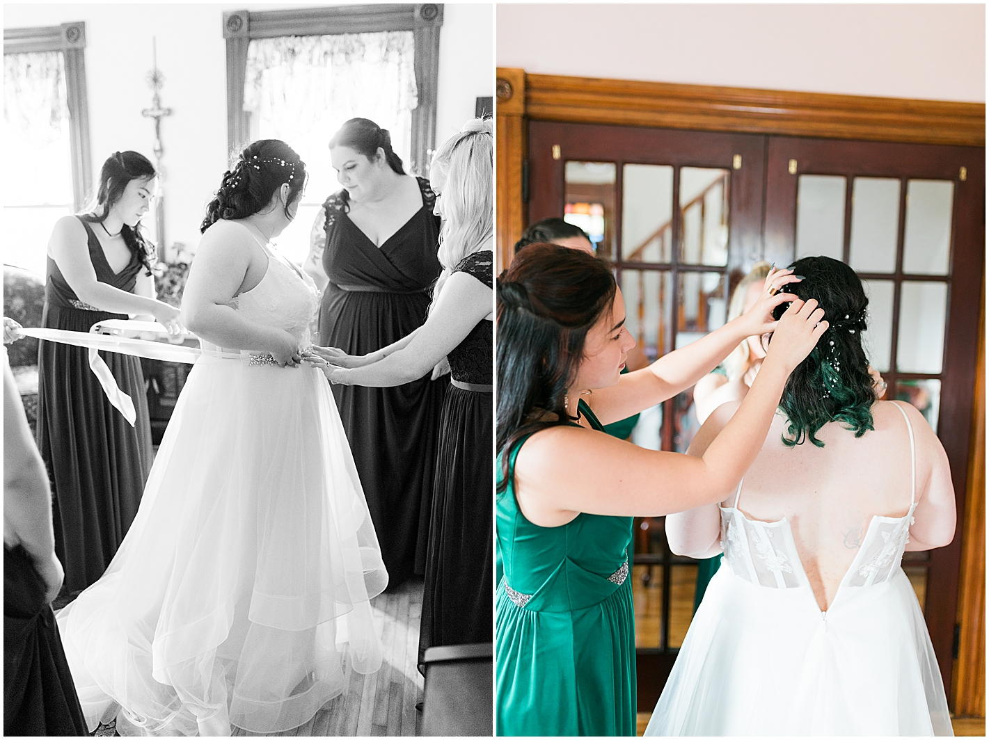 Bride getting ready Photo by Alyssa Parker Photography