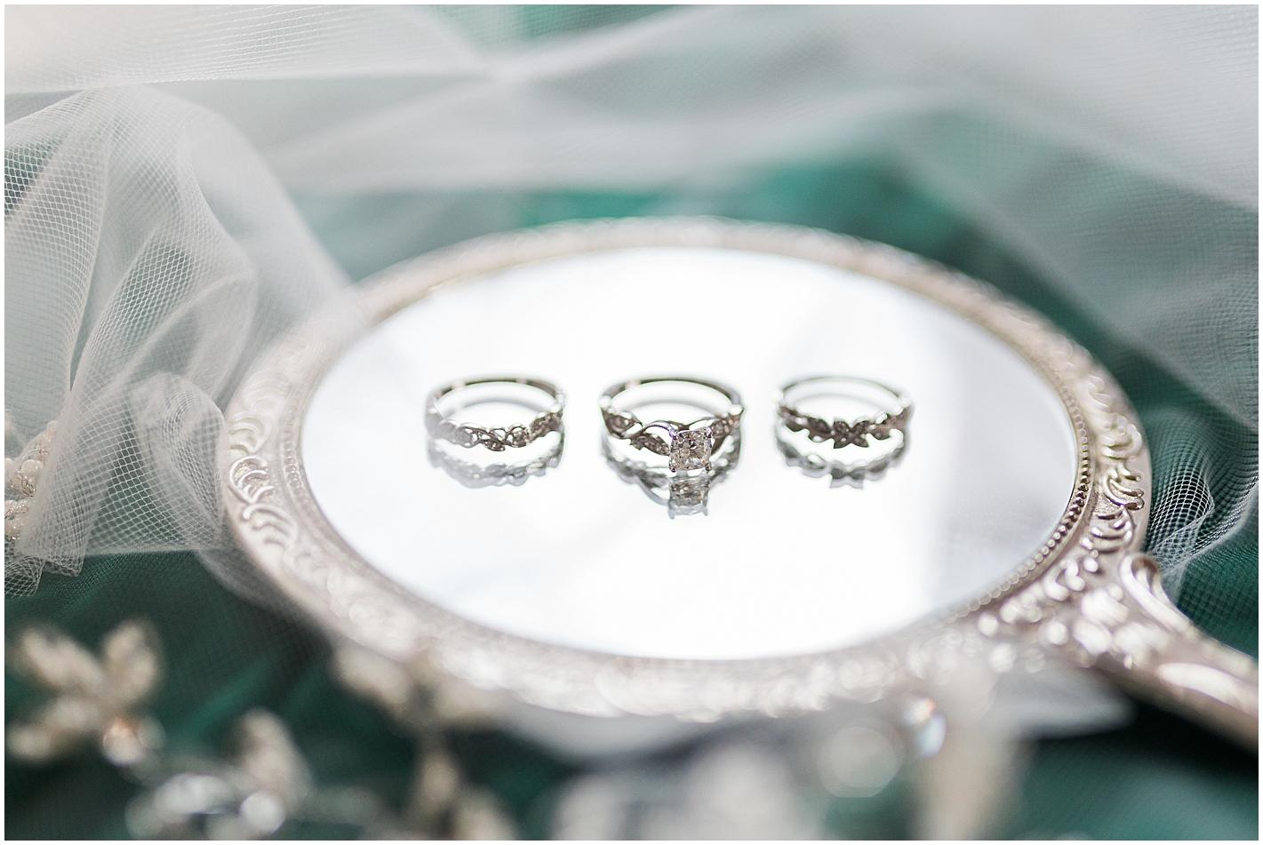 Vintage Mirror Wedding Photos  by Alyssa Parker Photography