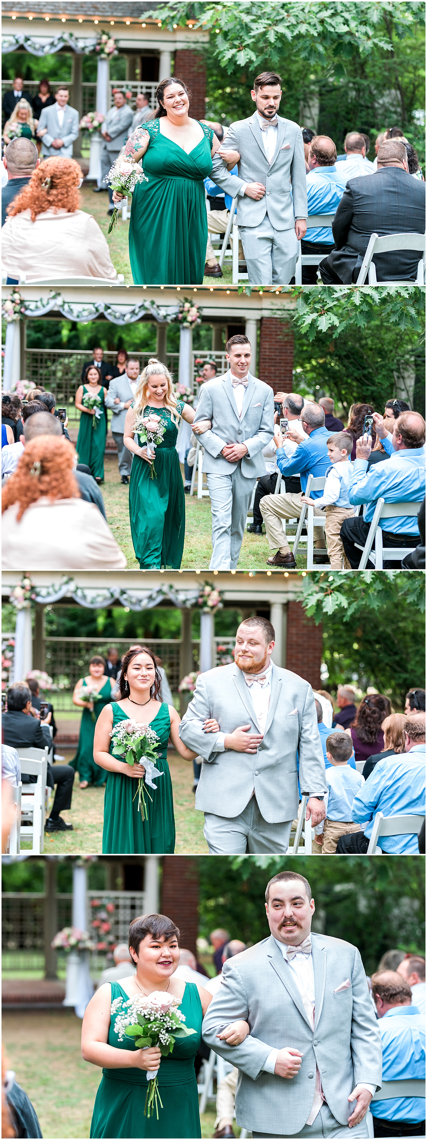 Wedding Party walking down aisle Photo by Alyssa Parker Photography